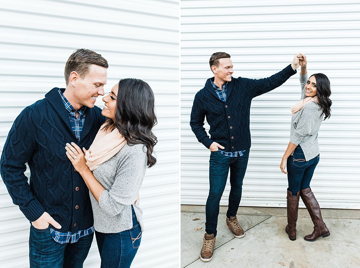 Apple Hill Engagement Session - Ashley Baumgartner - couple twirling and cuddling