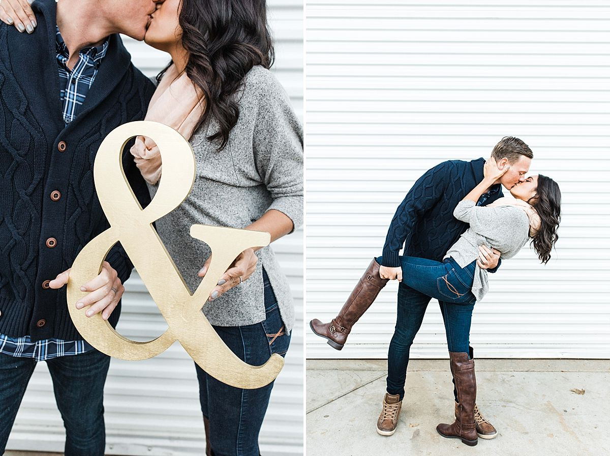 Apple Hill Engagement Session - Ashley Baumgartner - couple kissing and dipping