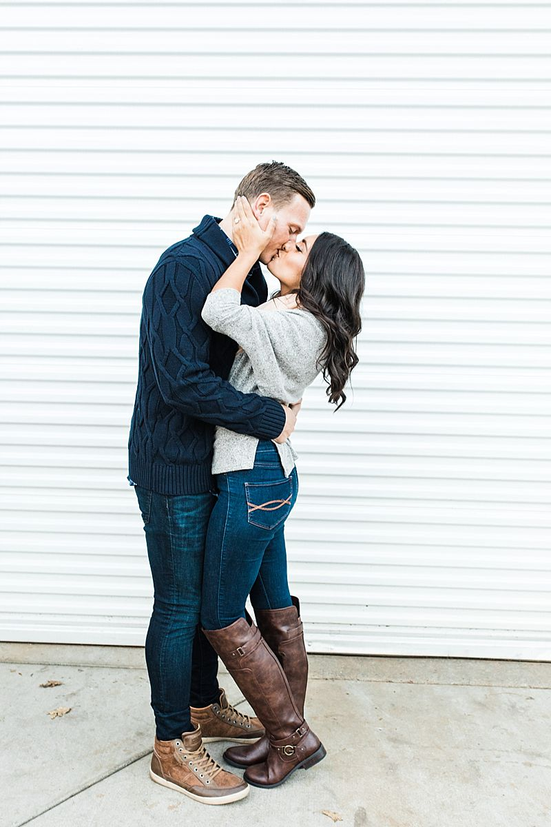 Apple Hill Engagement Session - Ashley Baumgartner - couple kissing and ready for their wedding day
