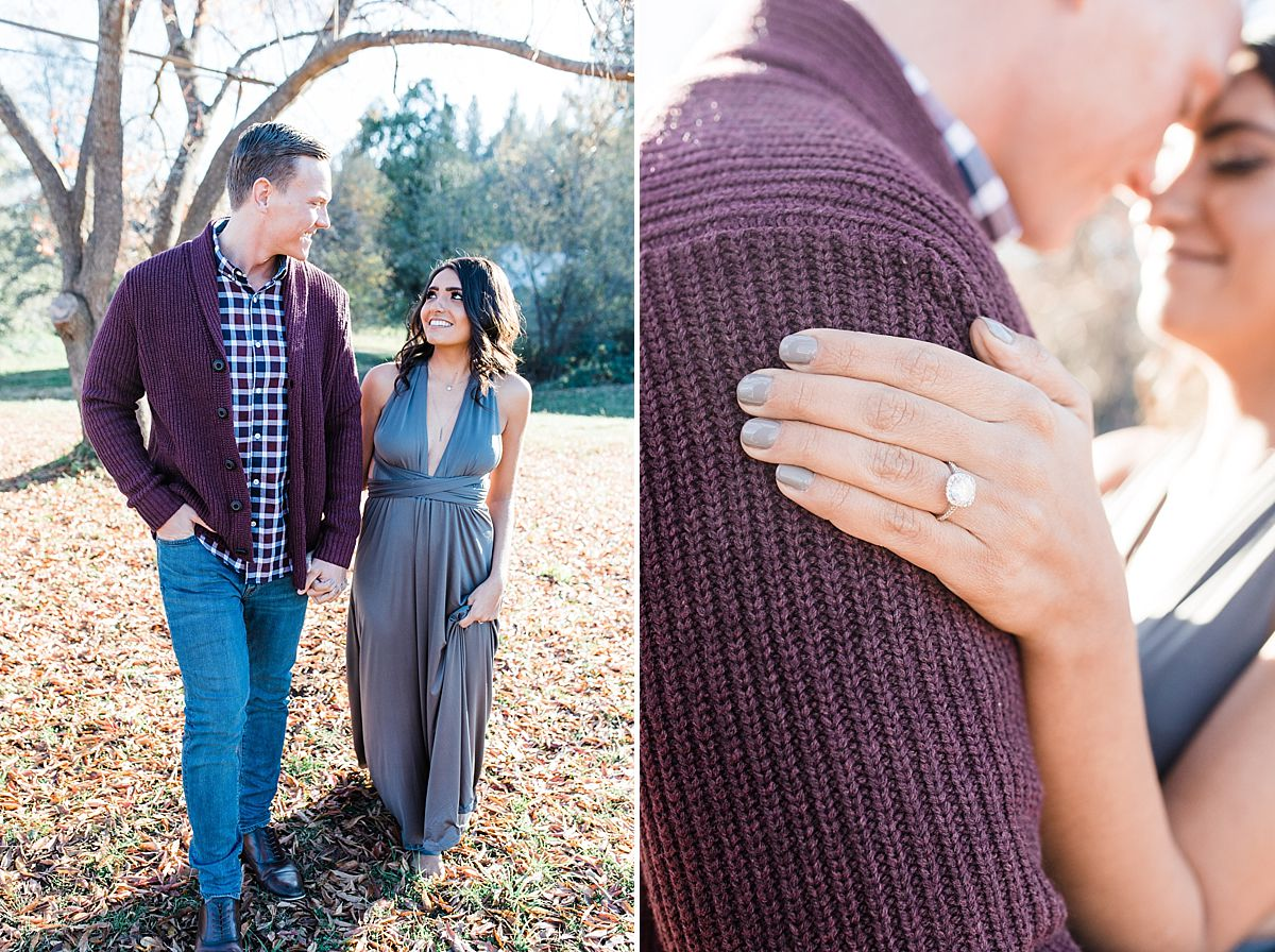 Apple Hill Engagement Session - Ashley Baumgartner - engagement ring
