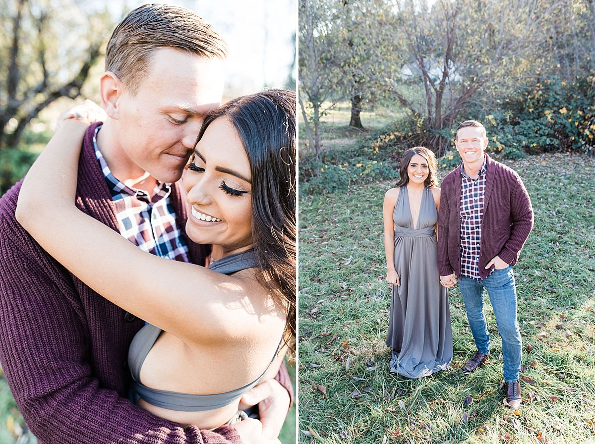 Apple Hill Engagement Session - Ashley Baumgartner - engaged couple smiling together