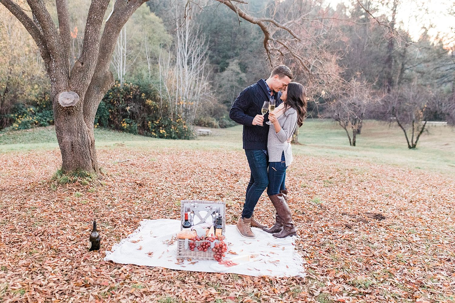 How to Have A Fun Engagement Picnic in Apple Hill - Brooke and Darin - Ashley Baumgartner - Sacramento Wedding Photographer_0015.jpg
