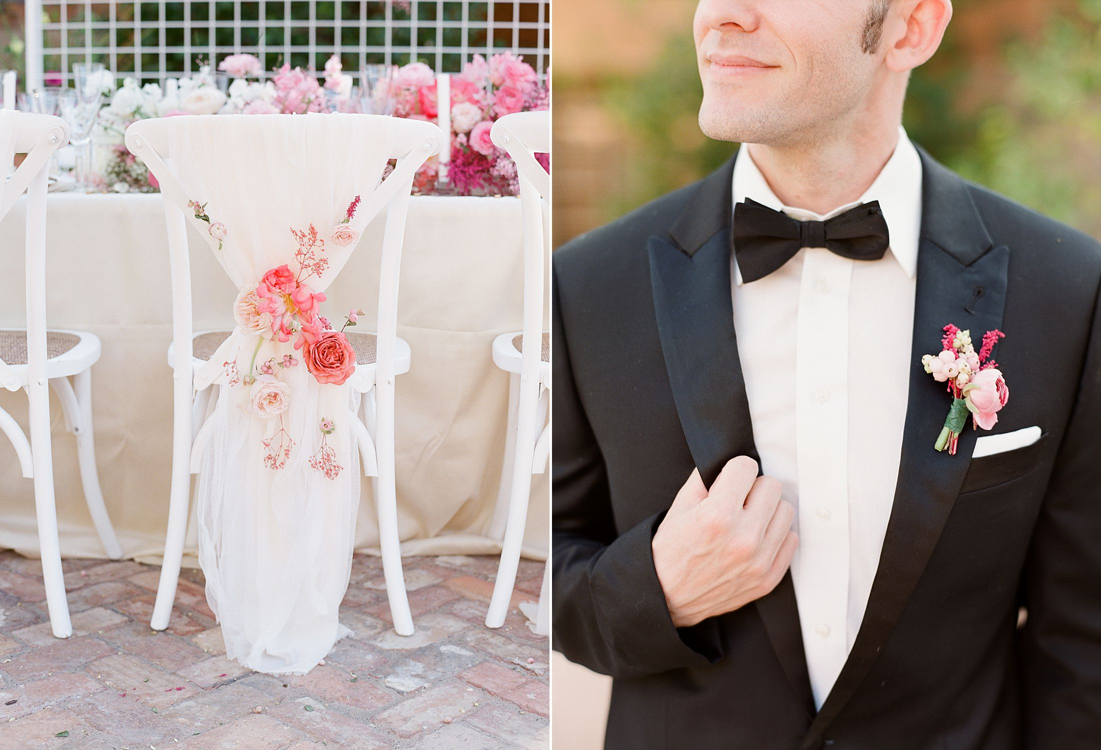Pink Ombre Wedding Inspiration on Style Me Pretty - Royal Palms Wedding - Scottsdale Wedding - Ashley Baumgartner - Bloom and Blueprint - Wedding Puppies - Bulldog Puppies_0004.jpg