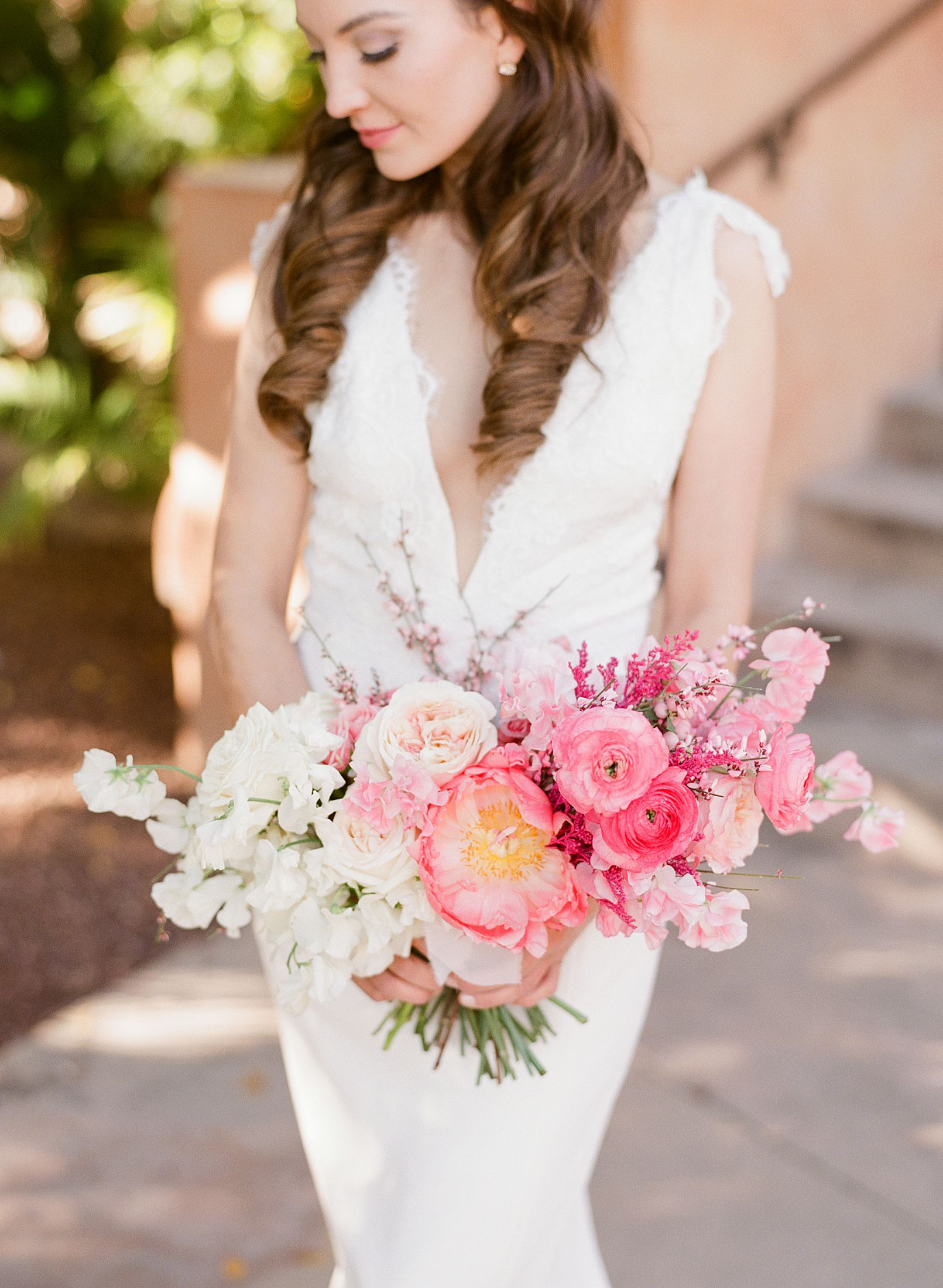 Pink Ombre Wedding Inspiration on Style Me Pretty - Royal Palms Wedding - Scottsdale Wedding - Ashley Baumgartner - Bloom and Blueprint - Wedding Puppies - Bulldog Puppies_0005.jpg