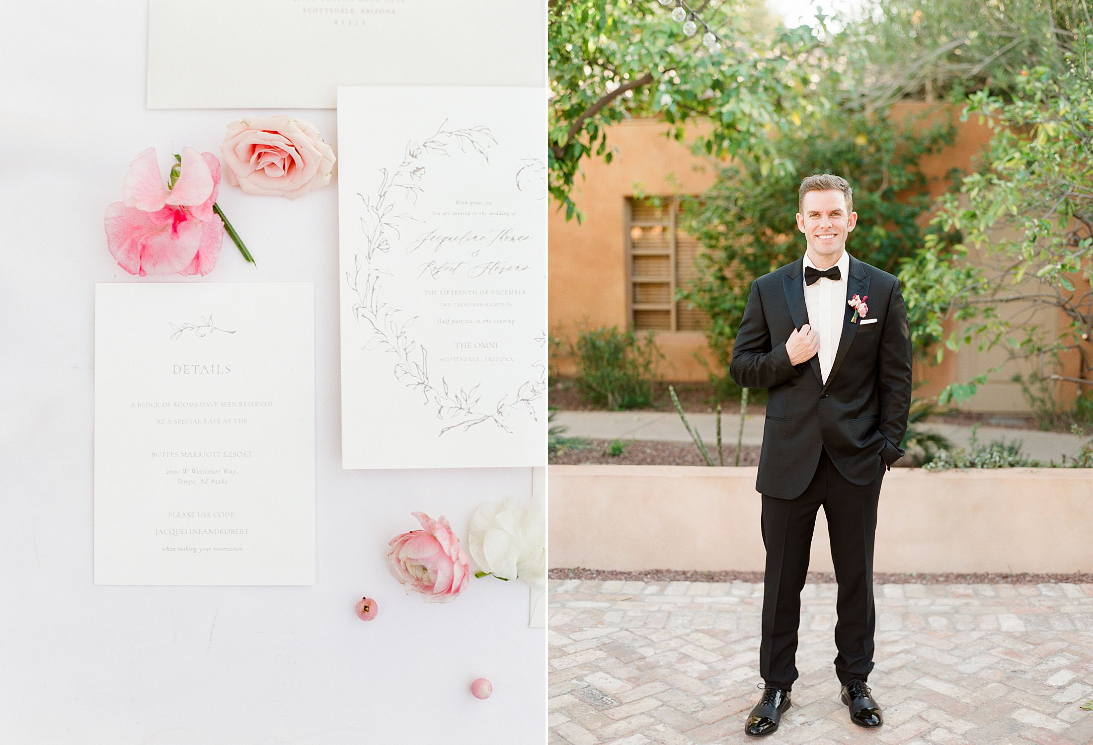 Pink Ombre Wedding Inspiration on Style Me Pretty - Royal Palms Wedding - Scottsdale Wedding - Ashley Baumgartner - Bloom and Blueprint - Wedding Puppies - Bulldog Puppies_0008.jpg
