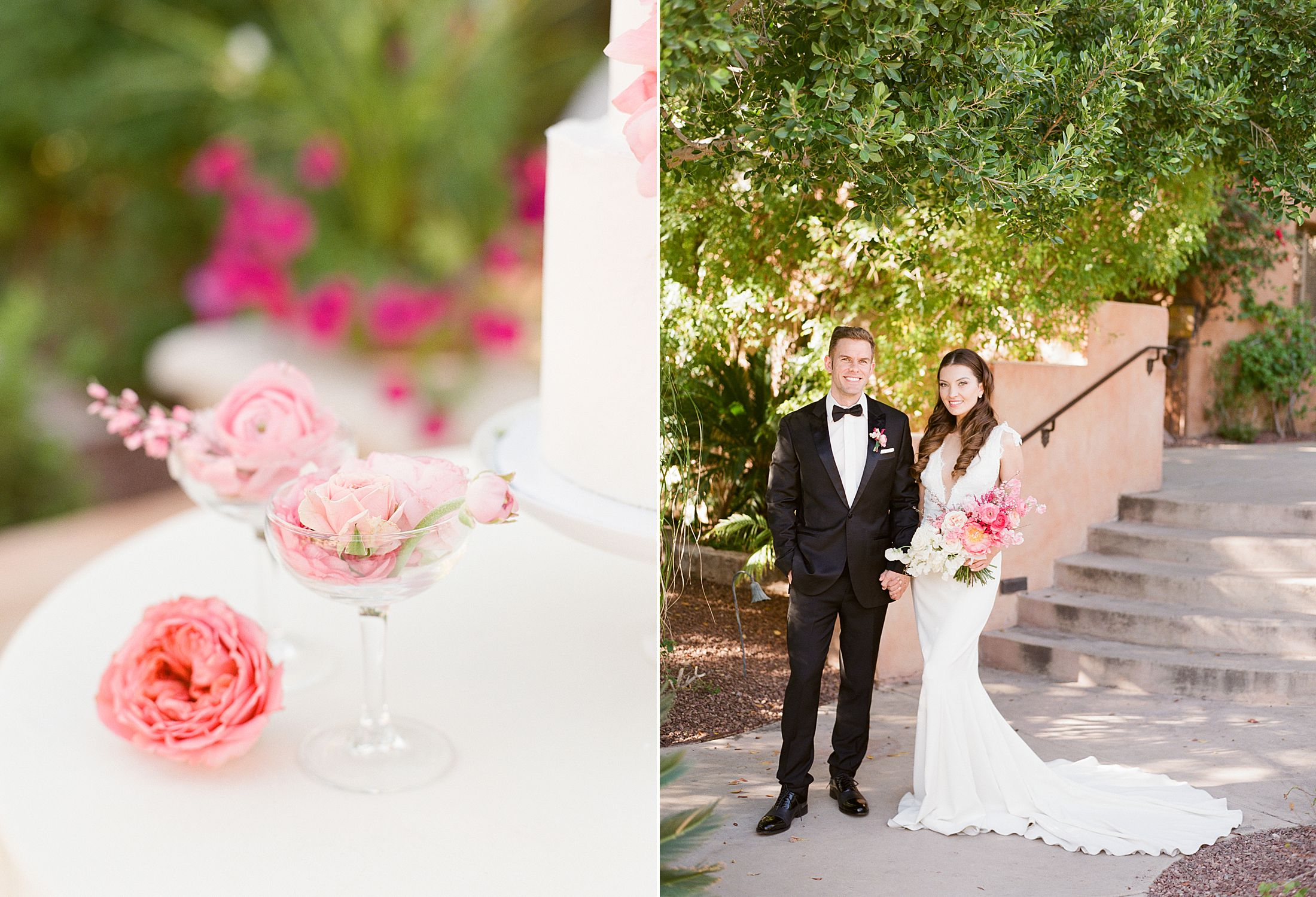 Pink Ombre Wedding Inspiration on Style Me Pretty - Royal Palms Wedding - Scottsdale Wedding - Ashley Baumgartner - Bloom and Blueprint - Wedding Puppies - Bulldog Puppies_0010.jpg