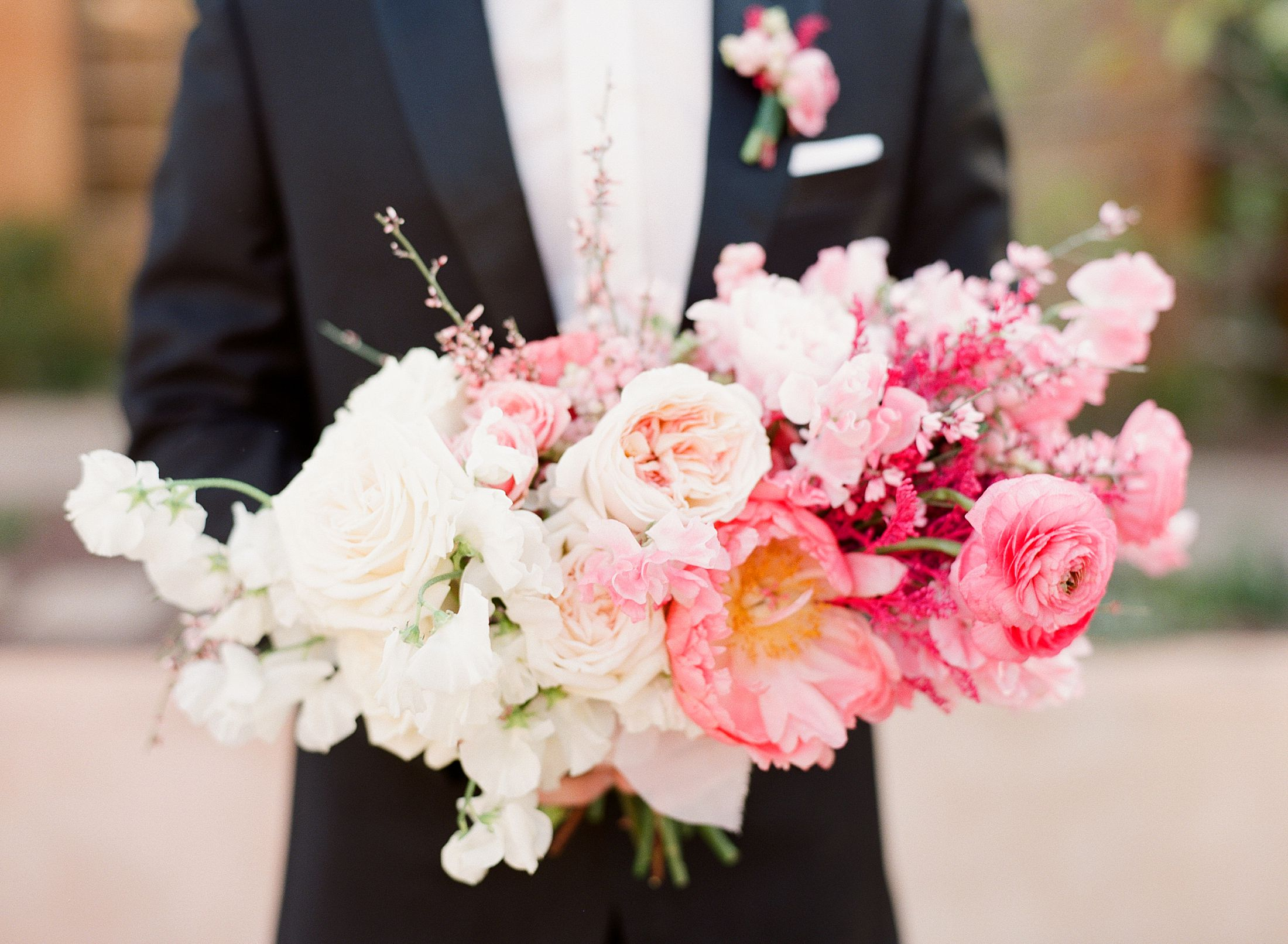 Pink Ombre Wedding Inspiration on Style Me Pretty - Royal Palms Wedding - Scottsdale Wedding - Ashley Baumgartner - Bloom and Blueprint - Wedding Puppies - Bulldog Puppies_0011.jpg