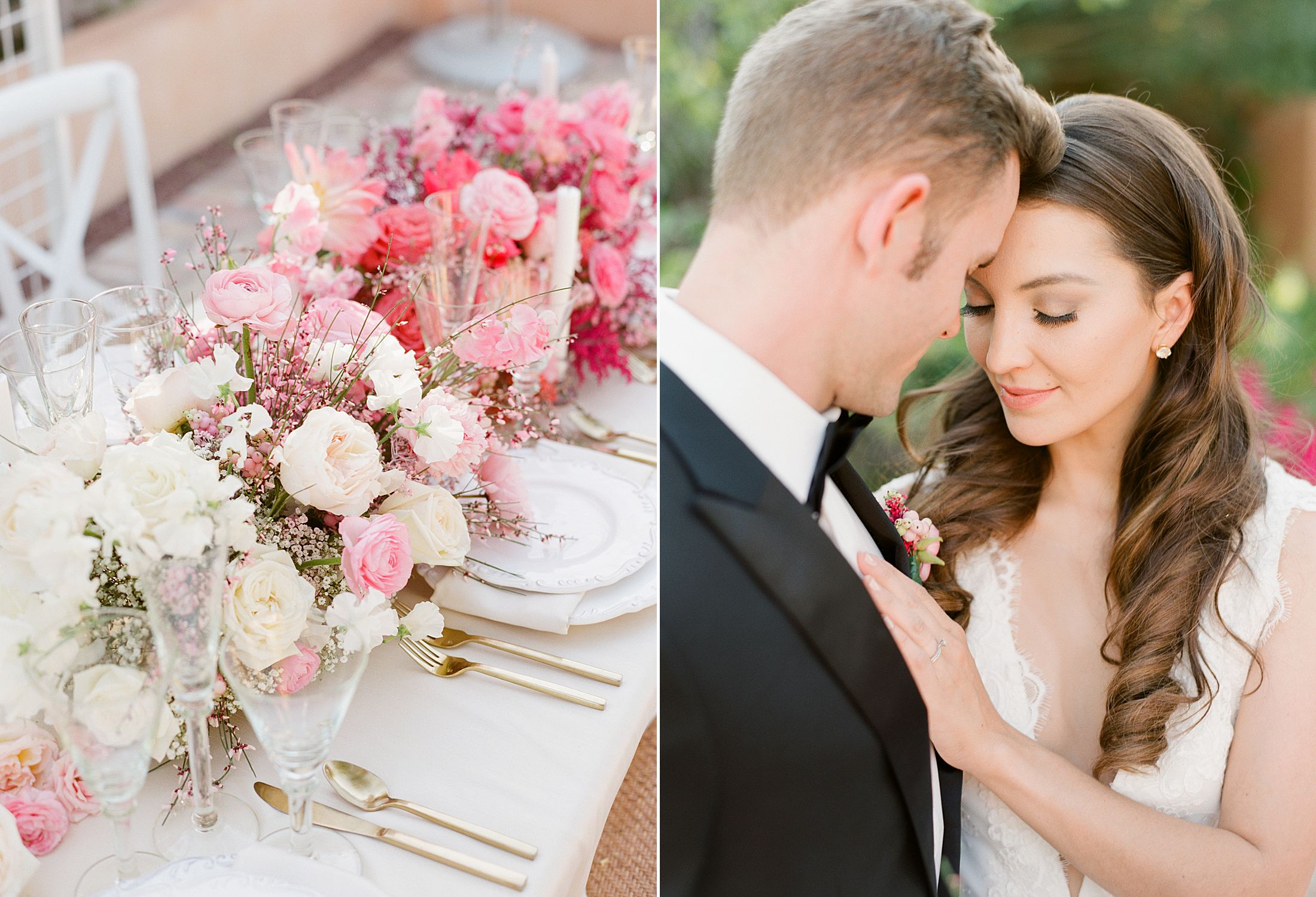 Pink Ombre Wedding Inspiration on Style Me Pretty - Royal Palms Wedding - Scottsdale Wedding - Ashley Baumgartner - Bloom and Blueprint - Wedding Puppies - Bulldog Puppies_0012.jpg
