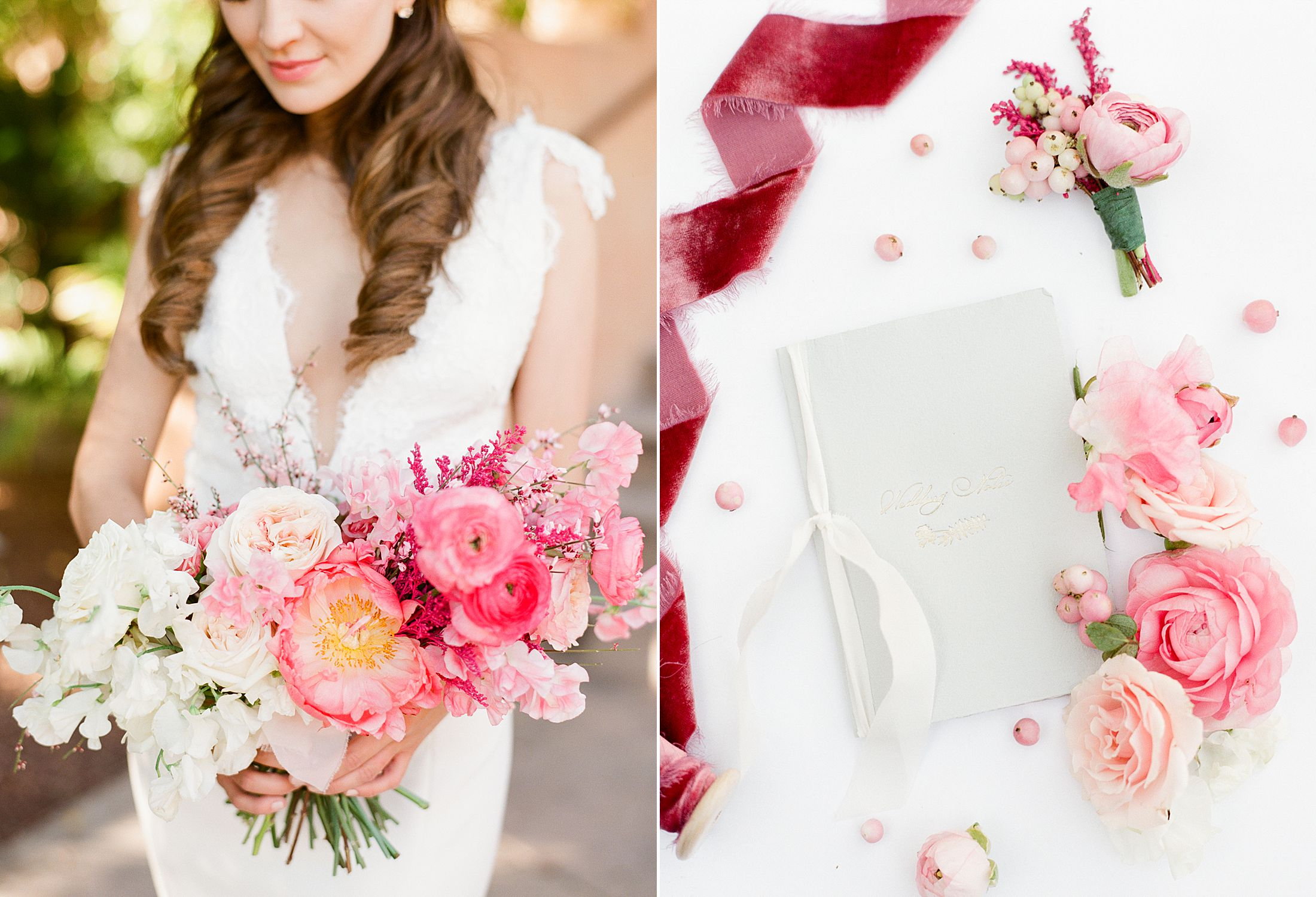 Pink Ombre Wedding Inspiration on Style Me Pretty - Royal Palms Wedding - Scottsdale Wedding - Ashley Baumgartner - Bloom and Blueprint - Wedding Puppies - Bulldog Puppies_0016.jpg