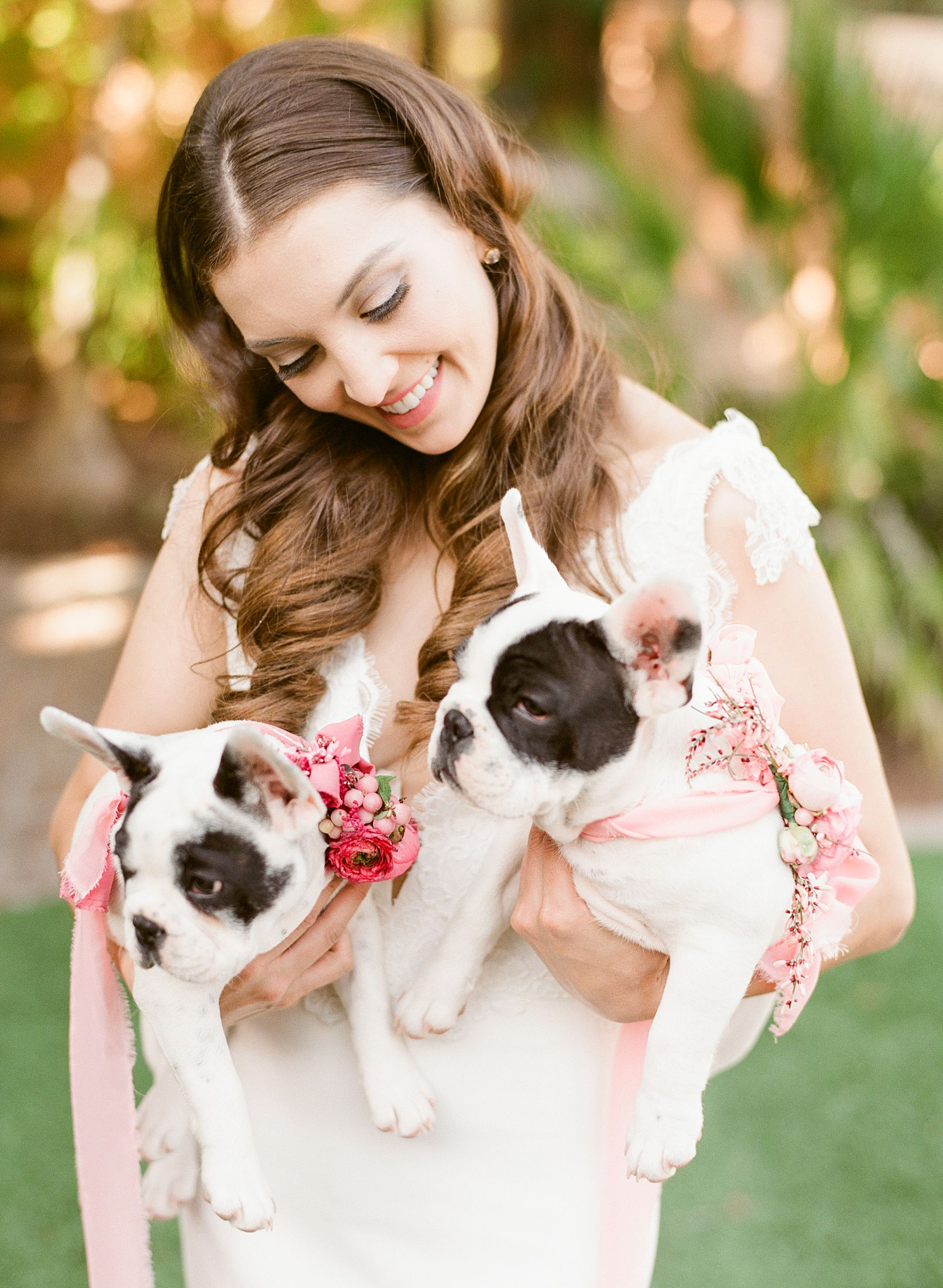 Pink Ombre Wedding Inspiration on Style Me Pretty - Royal Palms Wedding - Scottsdale Wedding - Ashley Baumgartner - Bloom and Blueprint - Wedding Puppies - Bulldog Puppies_0017.jpg