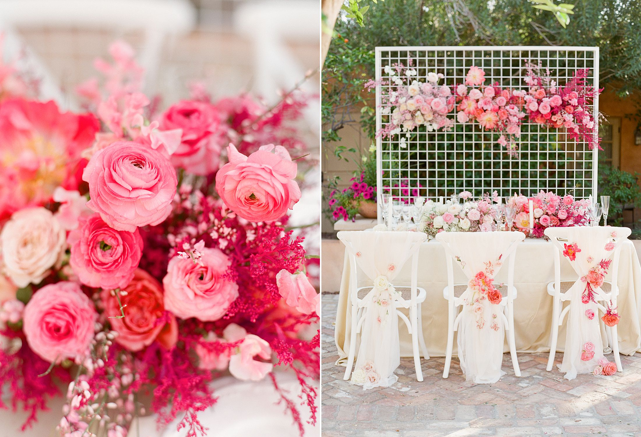 Pink Ombre Wedding Inspiration on Style Me Pretty - Royal Palms Wedding - Scottsdale Wedding - Ashley Baumgartner - Bloom and Blueprint - Wedding Puppies - Bulldog Puppies_0018.jpg