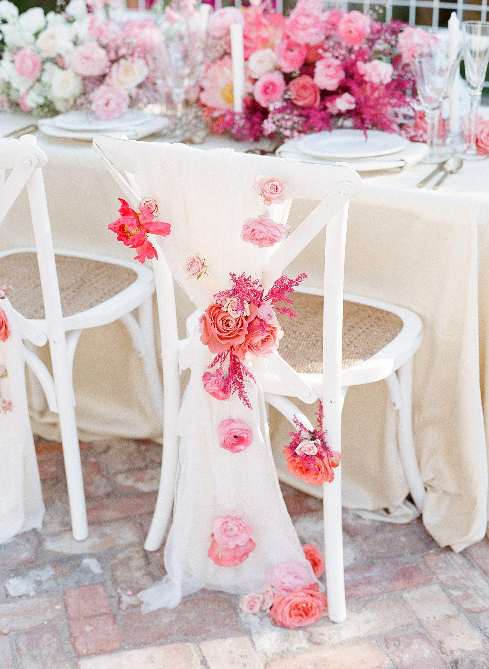 Pink Ombre Wedding Inspiration on Style Me Pretty - Royal Palms Wedding - Scottsdale Wedding - Ashley Baumgartner - Bloom and Blueprint - Wedding Puppies - Bulldog Puppies_0019.jpg