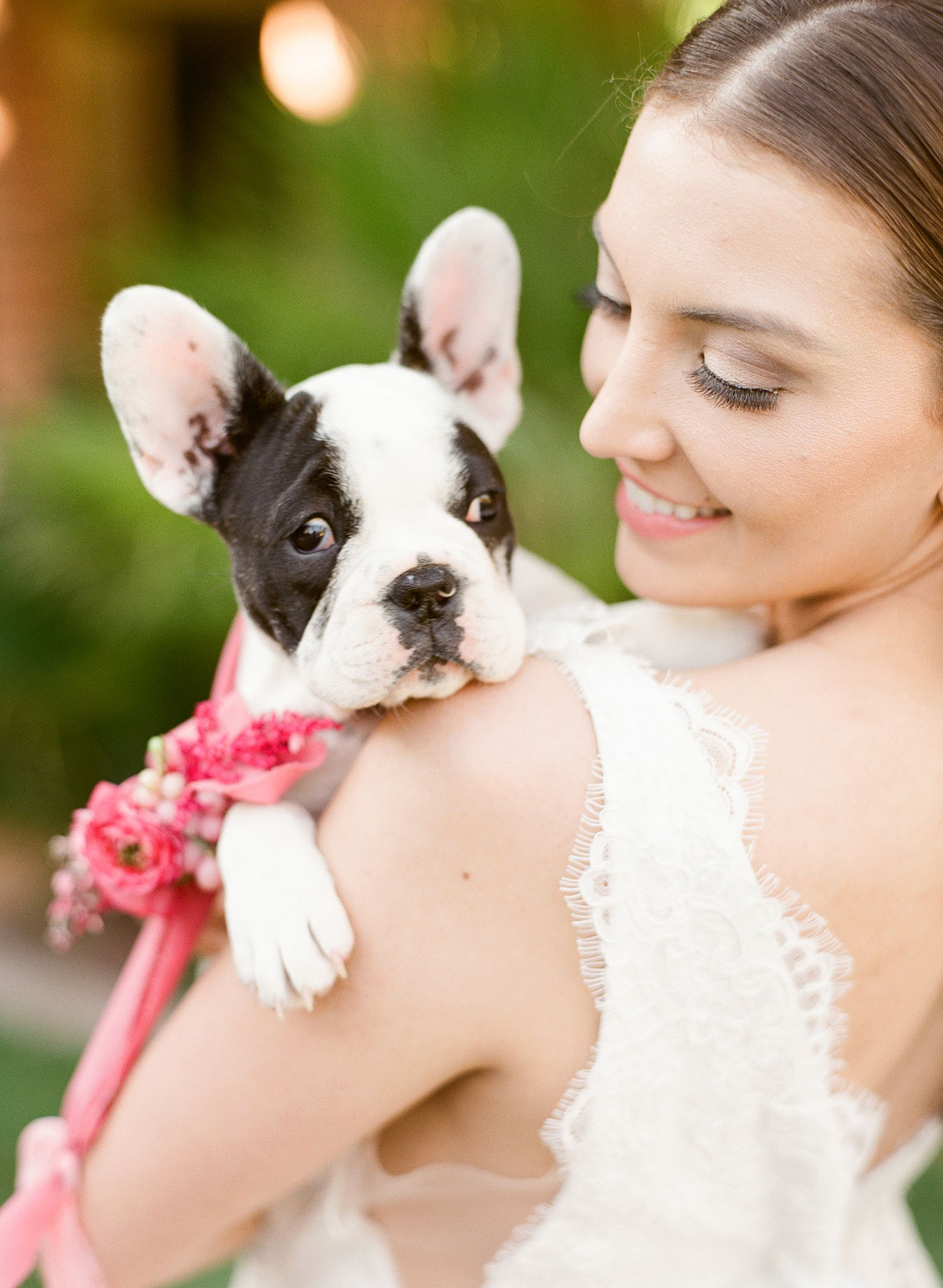 Pink Ombre Wedding Inspiration on Style Me Pretty - Royal Palms Wedding - Scottsdale Wedding - Ashley Baumgartner - Bloom and Blueprint - Wedding Puppies - Bulldog Puppies_0021.jpg