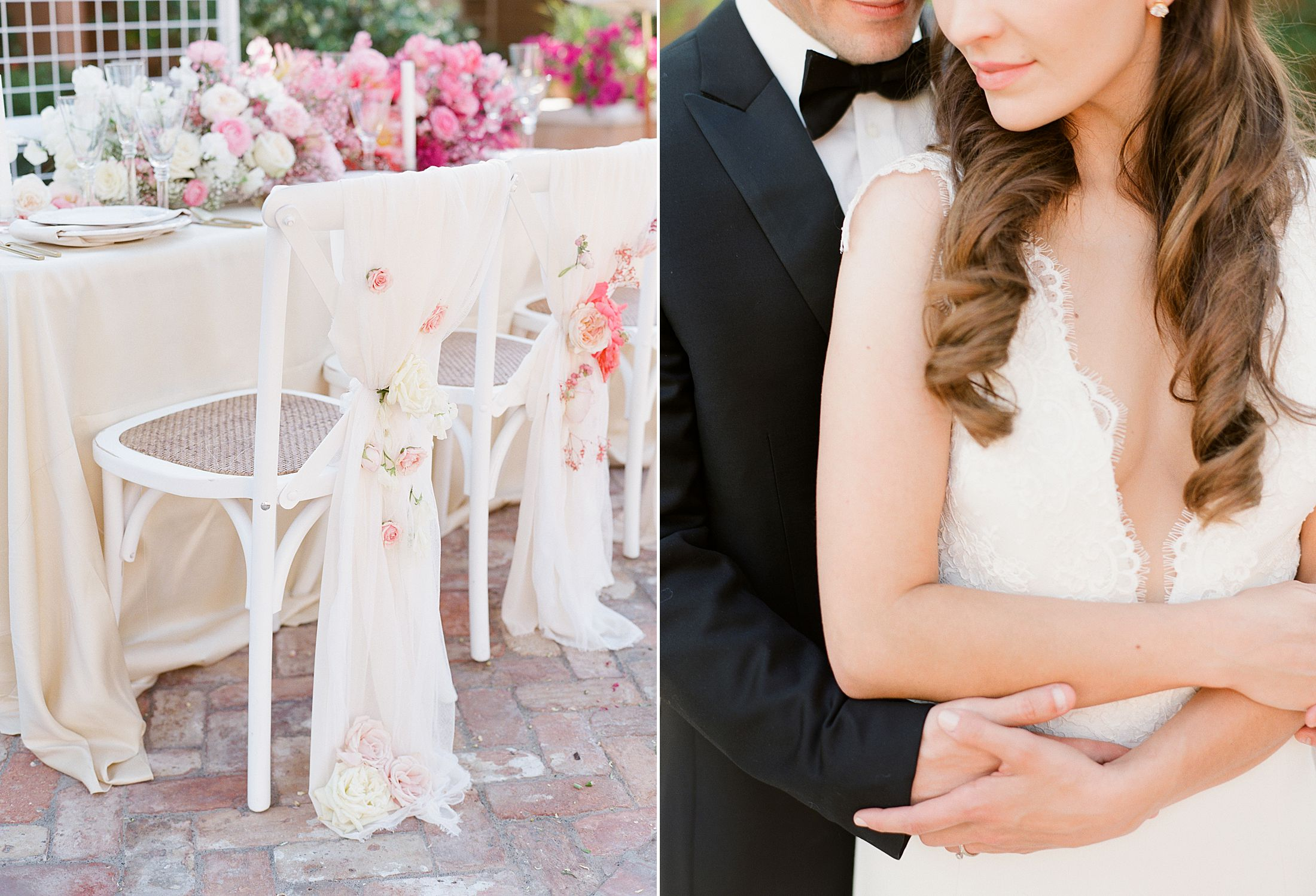 Pink Ombre Wedding Inspiration on Style Me Pretty - Royal Palms Wedding - Scottsdale Wedding - Ashley Baumgartner - Bloom and Blueprint - Wedding Puppies - Bulldog Puppies_0022.jpg