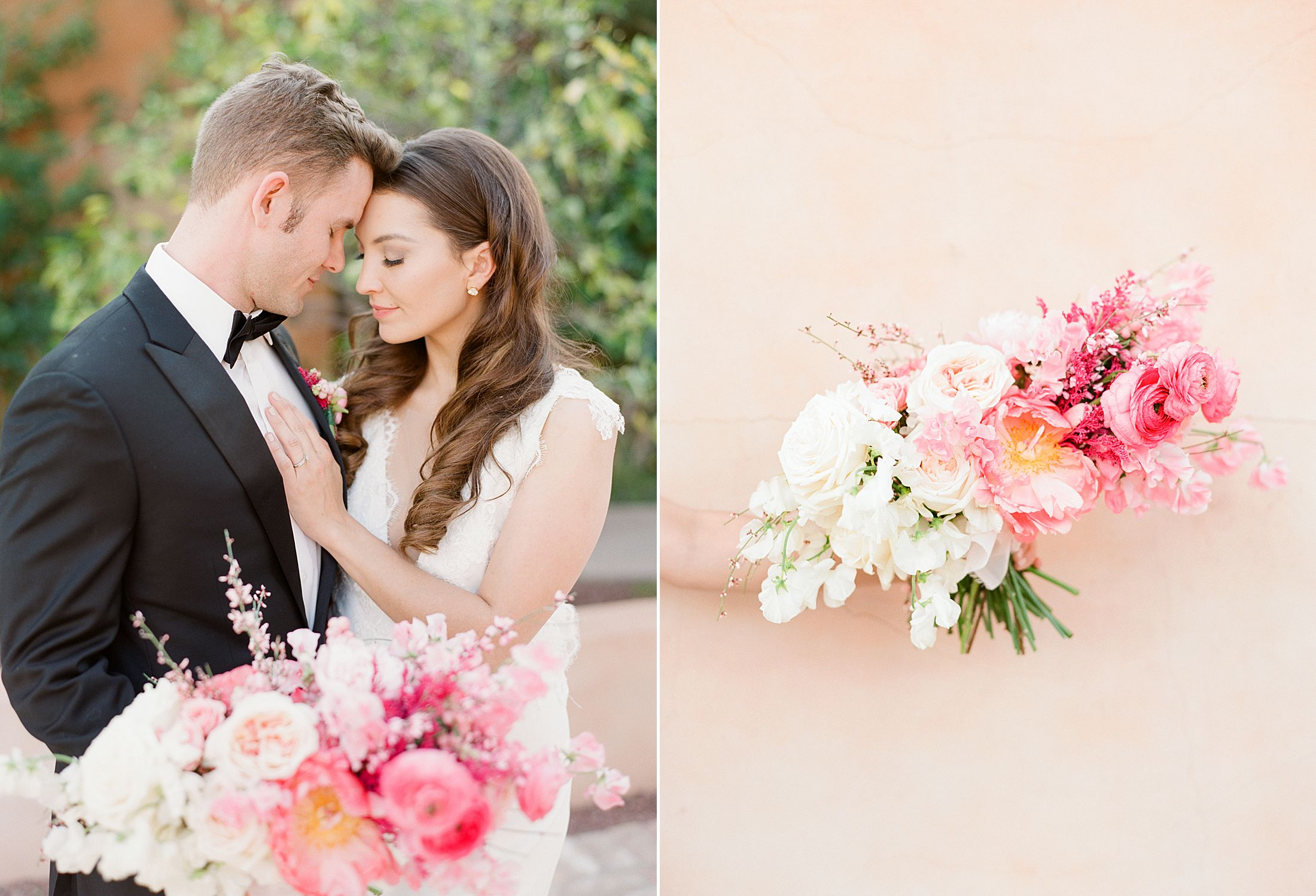 Pink Ombre Wedding Inspiration on Style Me Pretty - Royal Palms Wedding - Scottsdale Wedding - Ashley Baumgartner - Bloom and Blueprint - Wedding Puppies - Bulldog Puppies_0028.jpg