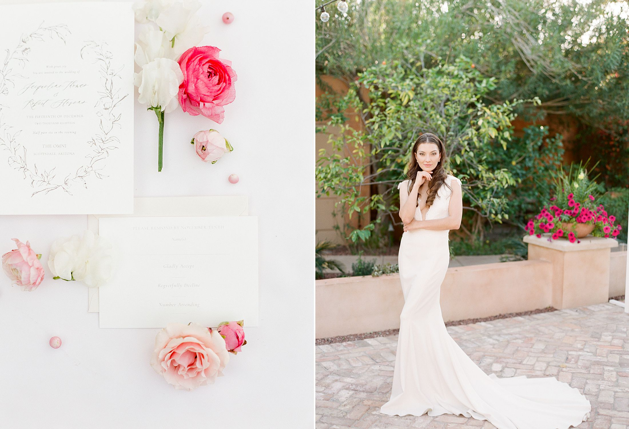 Pink Ombre Wedding Inspiration on Style Me Pretty - Royal Palms Wedding - Scottsdale Wedding - Ashley Baumgartner - Bloom and Blueprint - Wedding Puppies - Bulldog Puppies_0030.jpg
