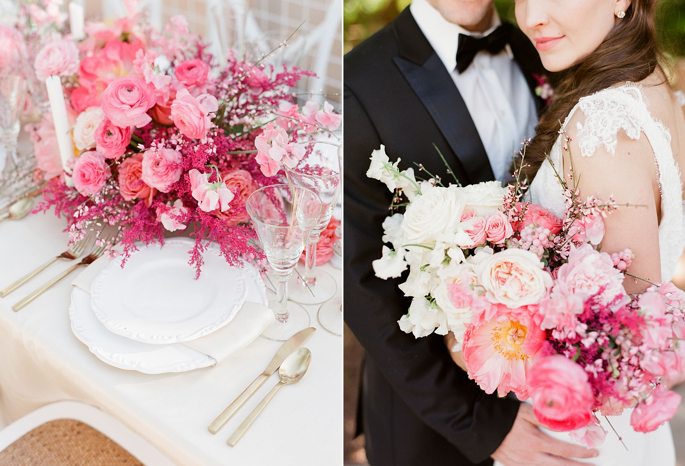 Pink Ombre Wedding Inspiration on Style Me Pretty - Royal Palms Wedding - Scottsdale Wedding - Ashley Baumgartner - Bloom and Blueprint - Wedding Puppies - Bulldog Puppies_0034.jpg