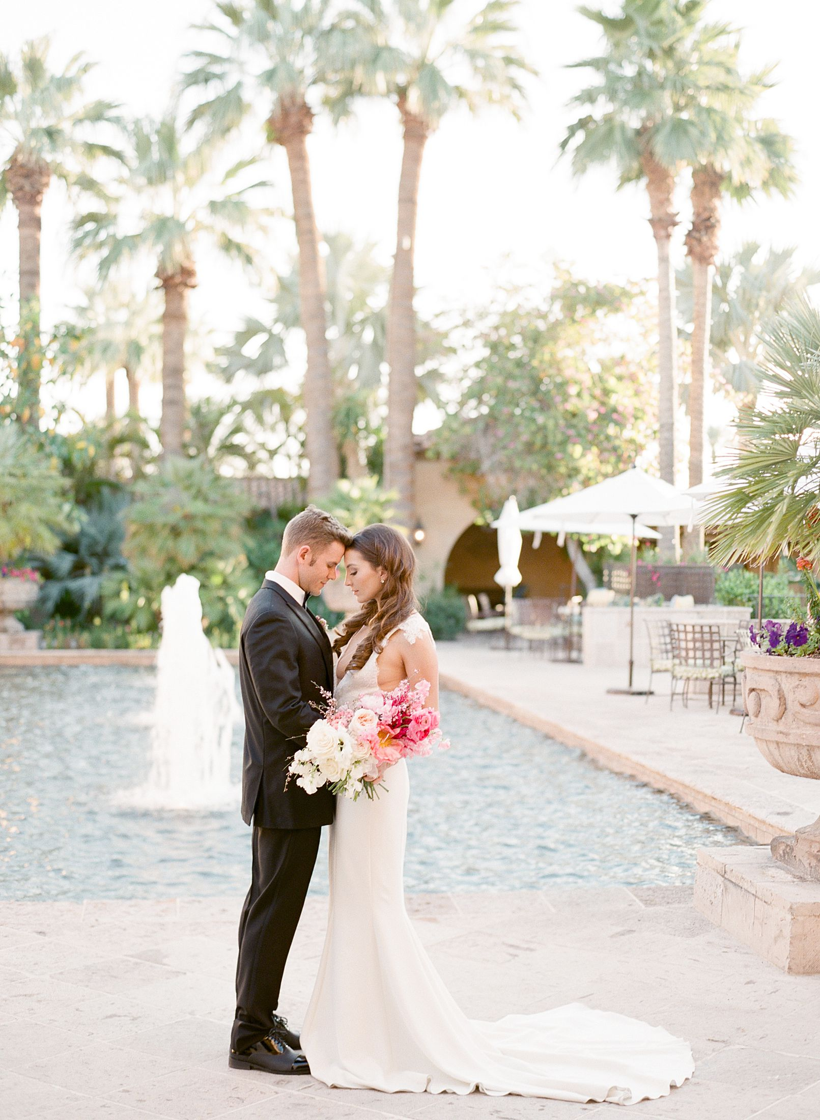 Pink Ombre Wedding Inspiration on Style Me Pretty - Royal Palms Wedding - Scottsdale Wedding - Ashley Baumgartner - Bloom and Blueprint - Wedding Puppies - Bulldog Puppies_0035.jpg