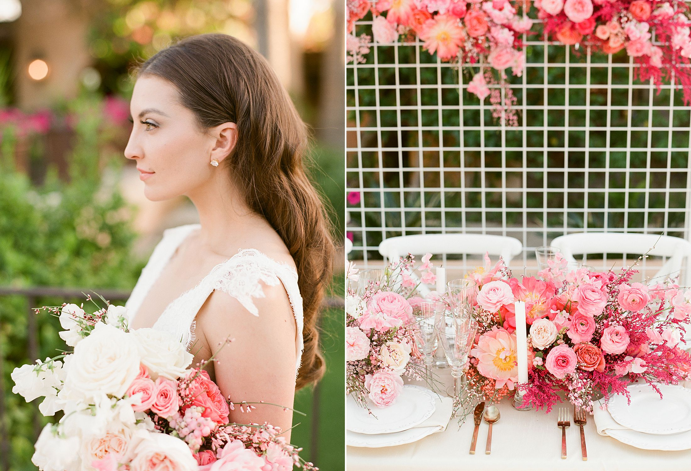 Pink Ombre Wedding Inspiration on Style Me Pretty - Royal Palms Wedding - Scottsdale Wedding - Ashley Baumgartner - Bloom and Blueprint - Wedding Puppies - Bulldog Puppies_0036.jpg