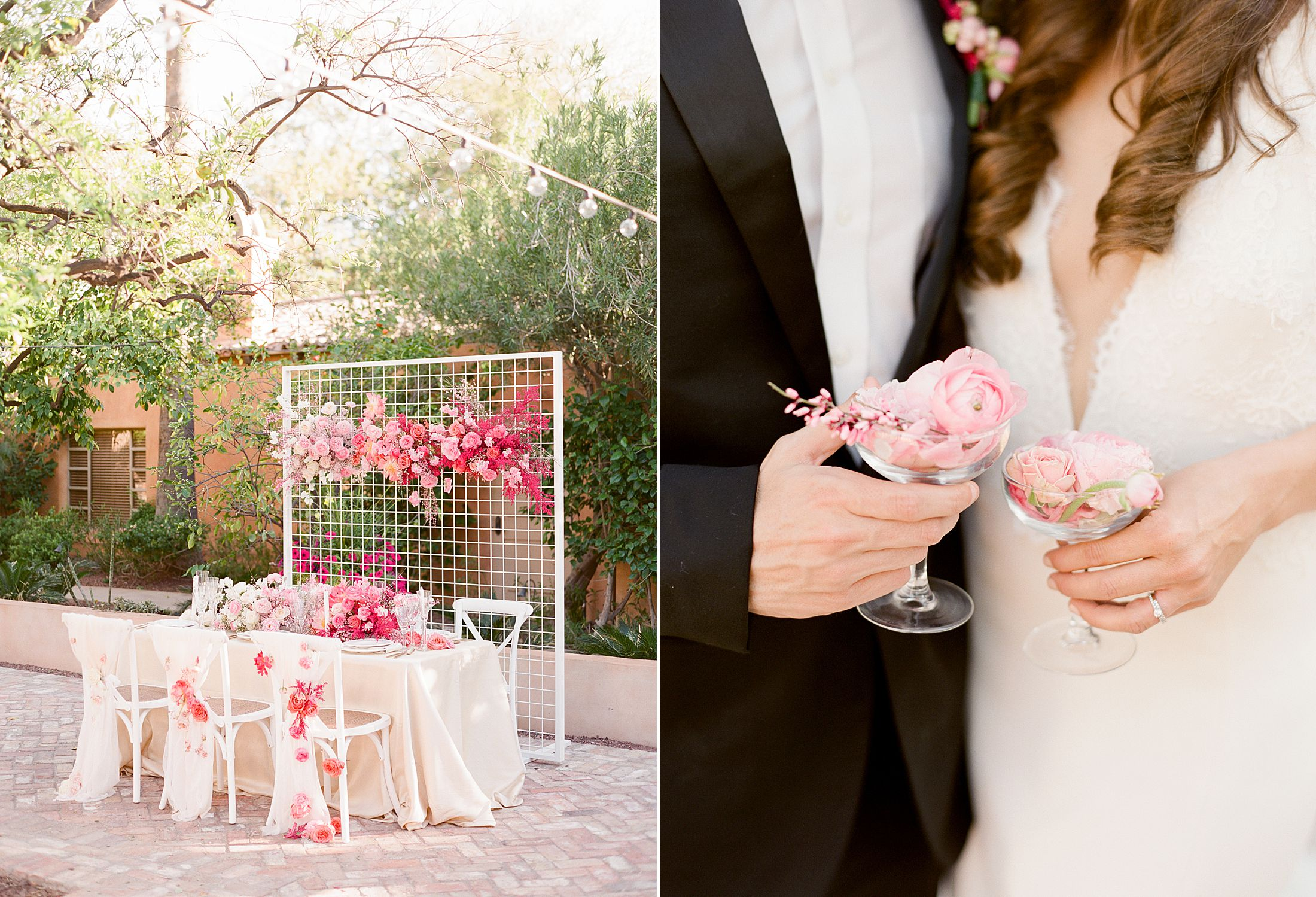 Pink Ombre Wedding Inspiration on Style Me Pretty - Royal Palms Wedding - Scottsdale Wedding - Ashley Baumgartner - Bloom and Blueprint - Wedding Puppies - Bulldog Puppies_0040.jpg