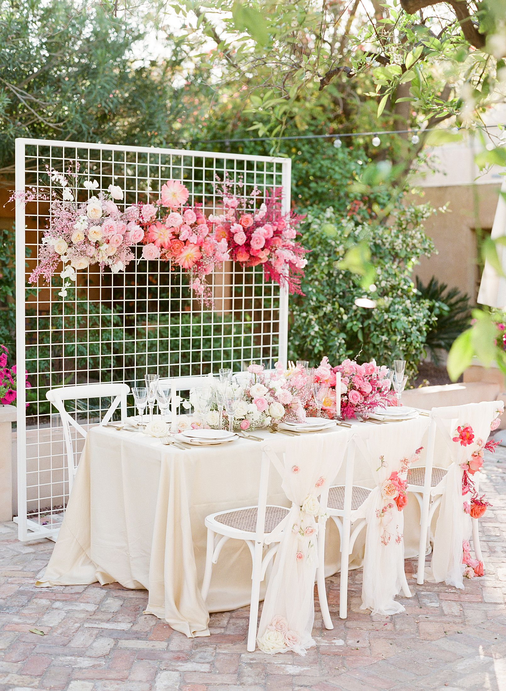 Pink Ombre Wedding Inspiration on Style Me Pretty - Royal Palms Wedding - Scottsdale Wedding - Ashley Baumgartner - Bloom and Blueprint - Wedding Puppies - Bulldog Puppies_0043.jpg