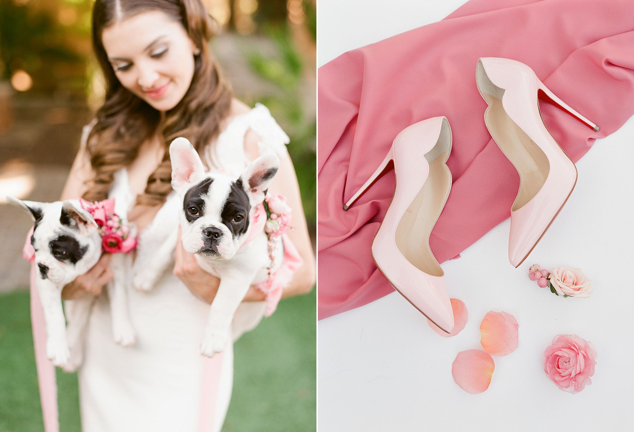 Pink Ombre Wedding Inspiration on Style Me Pretty - Royal Palms Wedding - Scottsdale Wedding - Ashley Baumgartner - Bloom and Blueprint - Wedding Puppies - Bulldog Puppies_0044.jpg