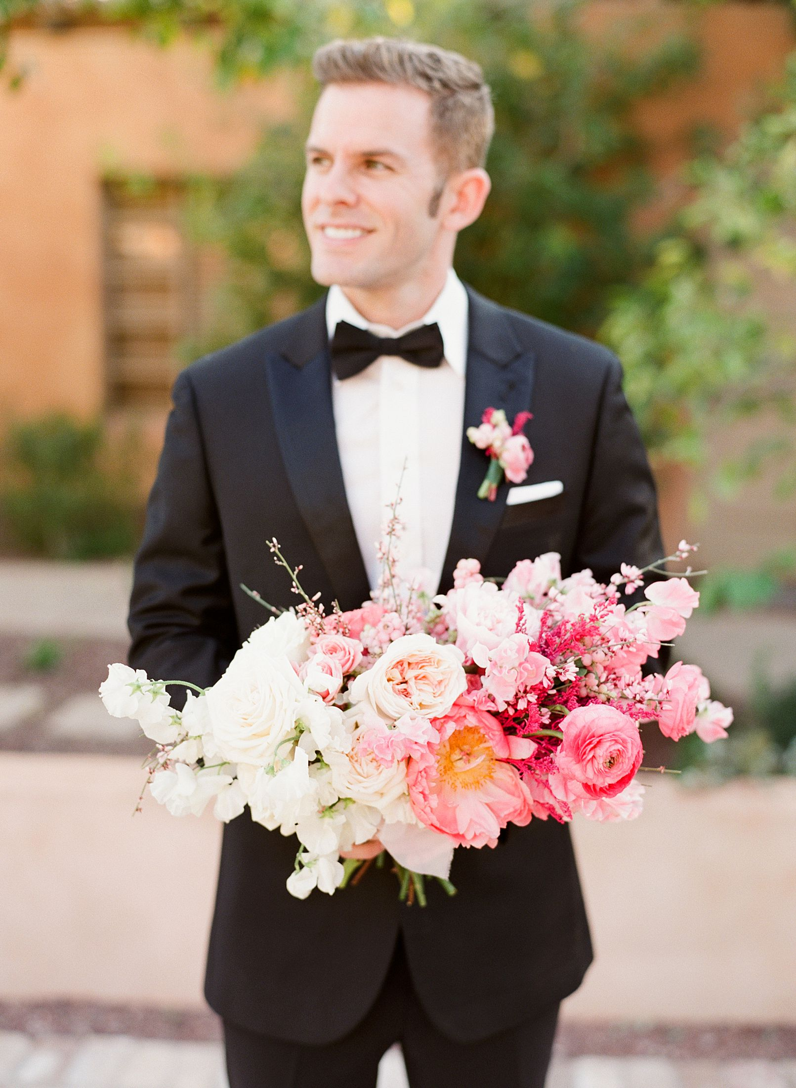 Pink Ombre Wedding Inspiration on Style Me Pretty - Royal Palms Wedding - Scottsdale Wedding - Ashley Baumgartner - Bloom and Blueprint - Wedding Puppies - Bulldog Puppies_0045.jpg