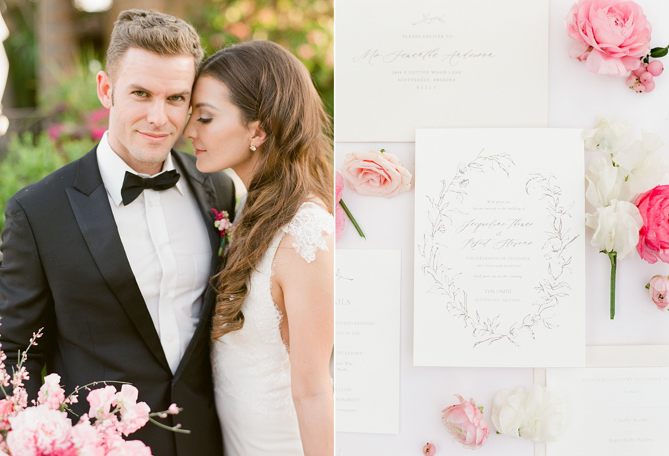 Pink Ombre Wedding Inspiration on Style Me Pretty - Royal Palms Wedding - Scottsdale Wedding - Ashley Baumgartner - Bloom and Blueprint - Wedding Puppies - Bulldog Puppies_0048.jpg