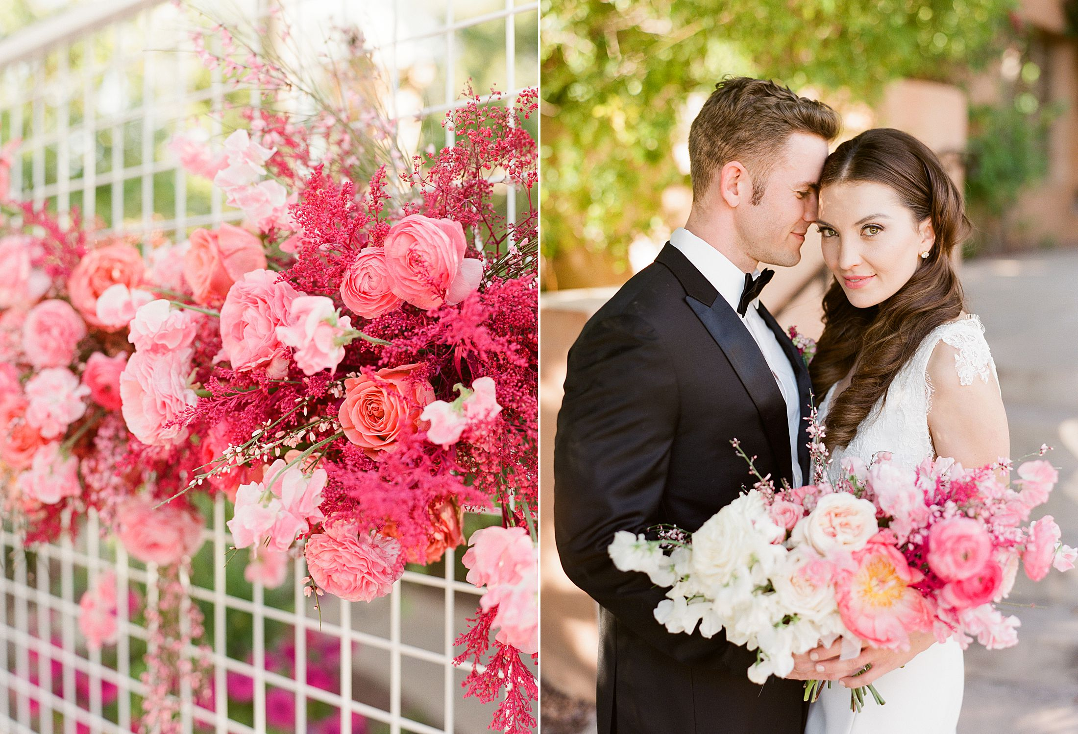 Pink Ombre Wedding Inspiration on Style Me Pretty - Royal Palms Wedding - Scottsdale Wedding - Ashley Baumgartner - Bloom and Blueprint - Wedding Puppies - Bulldog Puppies_0050.jpg