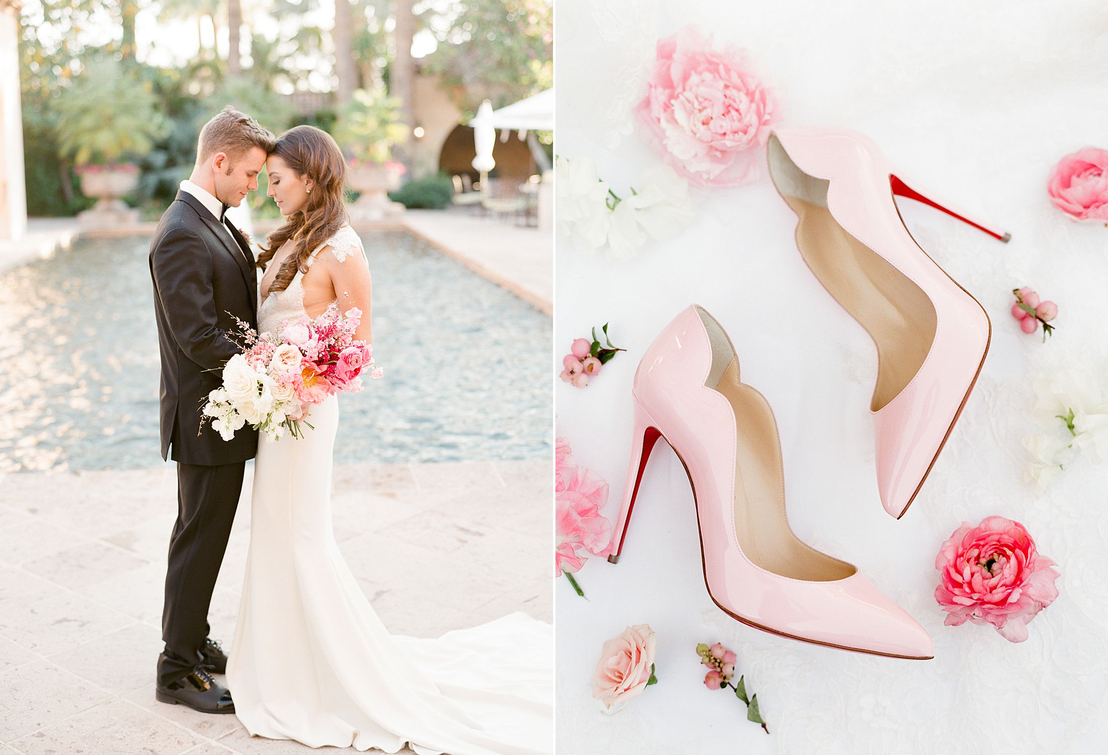 Pink Ombre Wedding Inspiration on Style Me Pretty - Royal Palms Wedding - Scottsdale Wedding - Ashley Baumgartner - Bloom and Blueprint - Wedding Puppies - Bulldog Puppies_0052.jpg