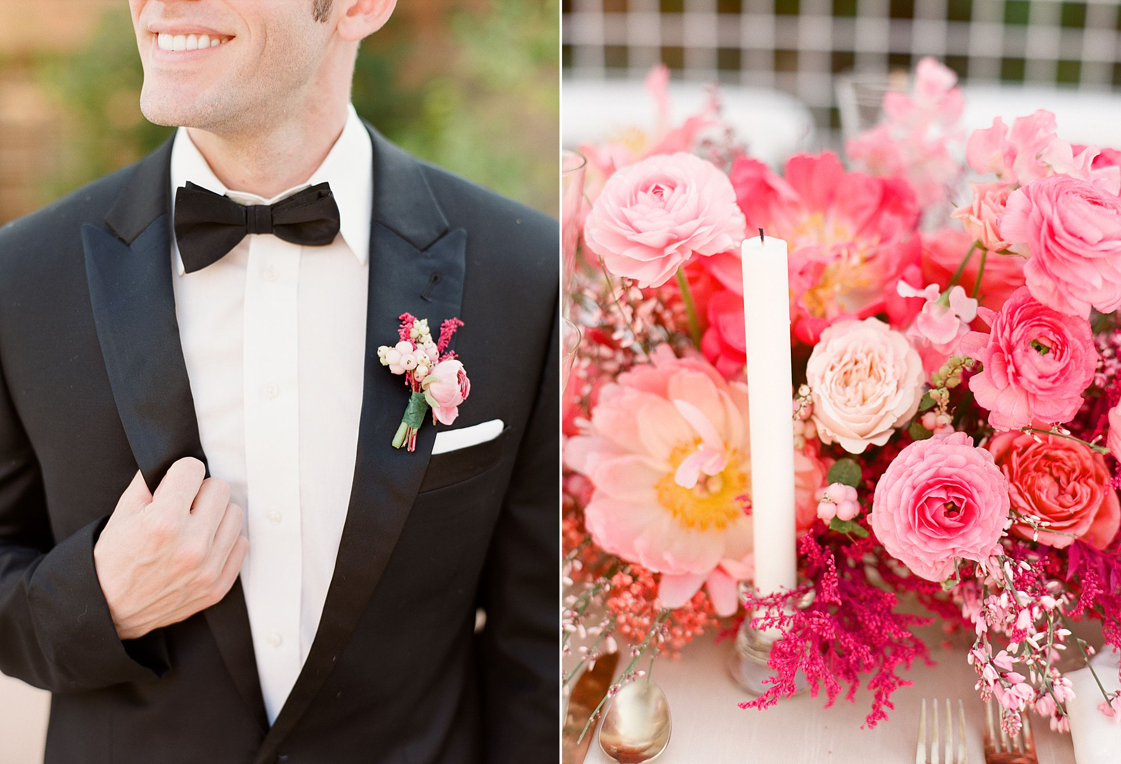 Pink Ombre Wedding Inspiration on Style Me Pretty - Royal Palms Wedding - Scottsdale Wedding - Ashley Baumgartner - Bloom and Blueprint - Wedding Puppies - Bulldog Puppies_0054.jpg