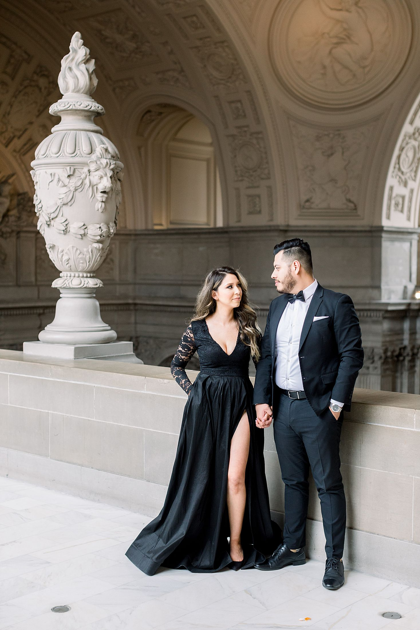 SF City Hall Black Tie Engagement and Palace of Fine Arts Engagement - Ashley Baumgartner - Esmeralda and Jesus - SF Wedding Photographer_0001.jpg