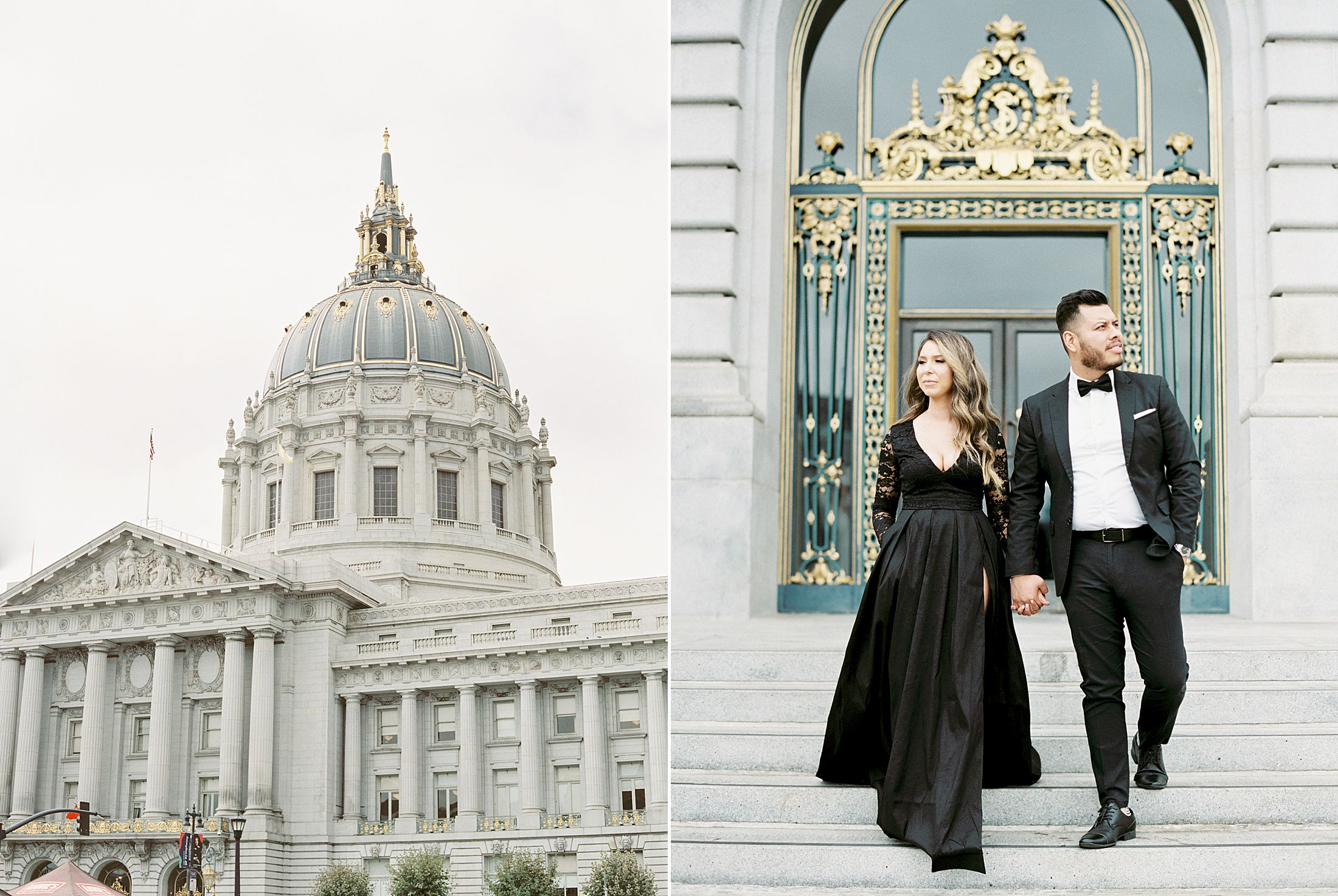 SF City Hall Black Tie Engagement and Palace of Fine Arts Engagement - Ashley Baumgartner - Esmeralda and Jesus - SF Wedding Photographer_0002.jpg
