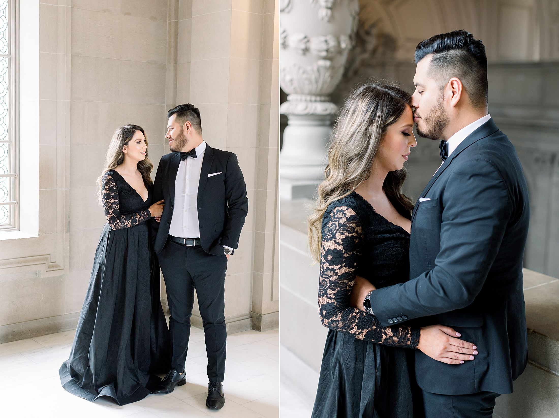 SF City Hall Black Tie Engagement and Palace of Fine Arts Engagement - Ashley Baumgartner - Esmeralda and Jesus - SF Wedding Photographer_0004.jpg