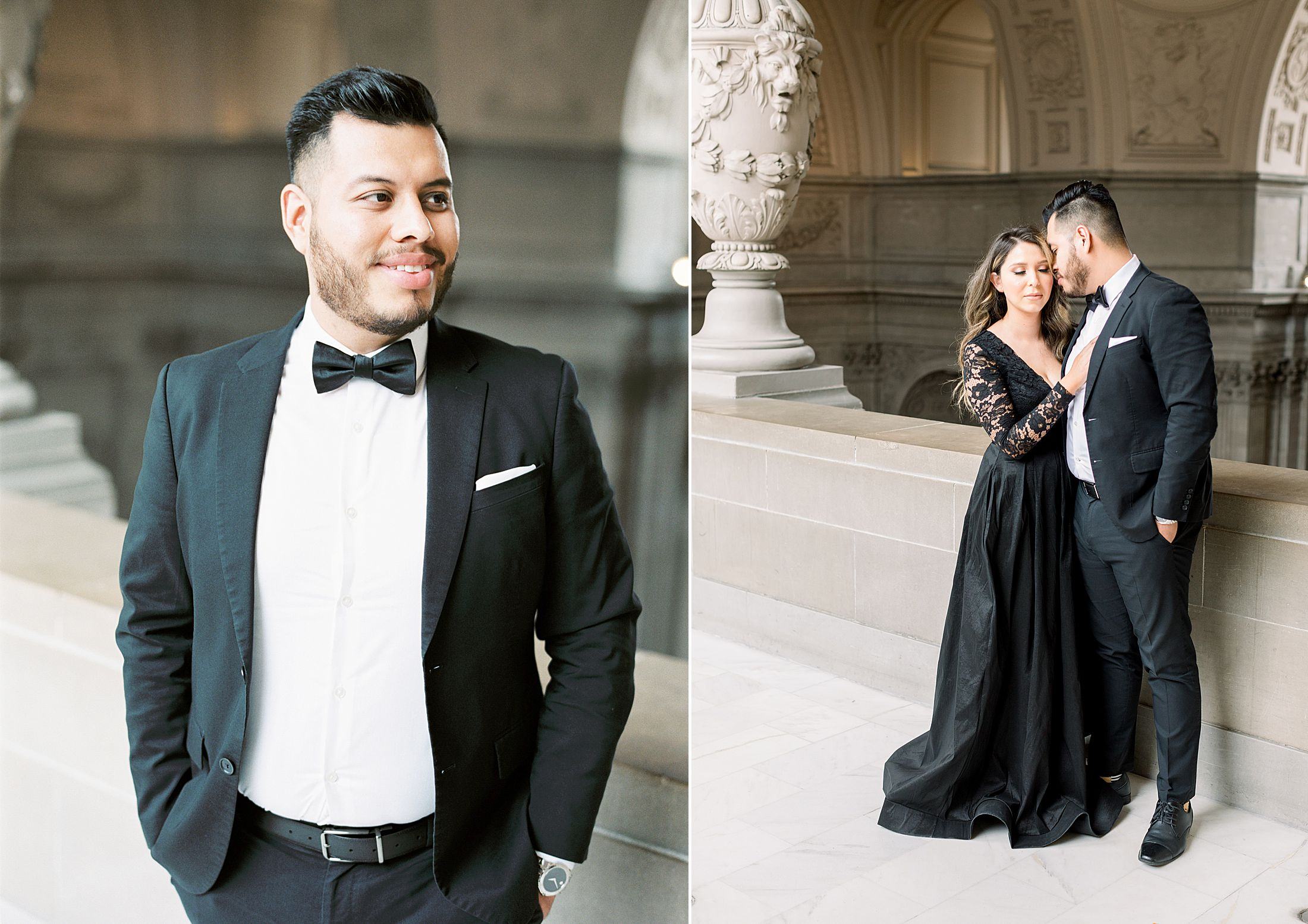 SF City Hall Black Tie Engagement and Palace of Fine Arts Engagement - Ashley Baumgartner - Esmeralda and Jesus - SF Wedding Photographer_0006.jpg