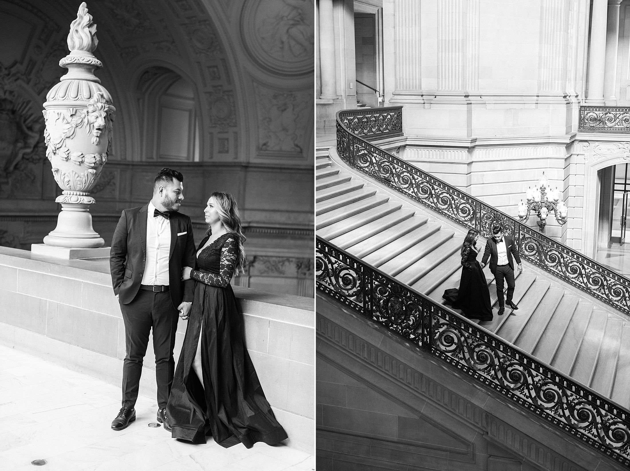 SF City Hall Black Tie Engagement and Palace of Fine Arts Engagement - Ashley Baumgartner - Esmeralda and Jesus - SF Wedding Photographer_0008.jpg