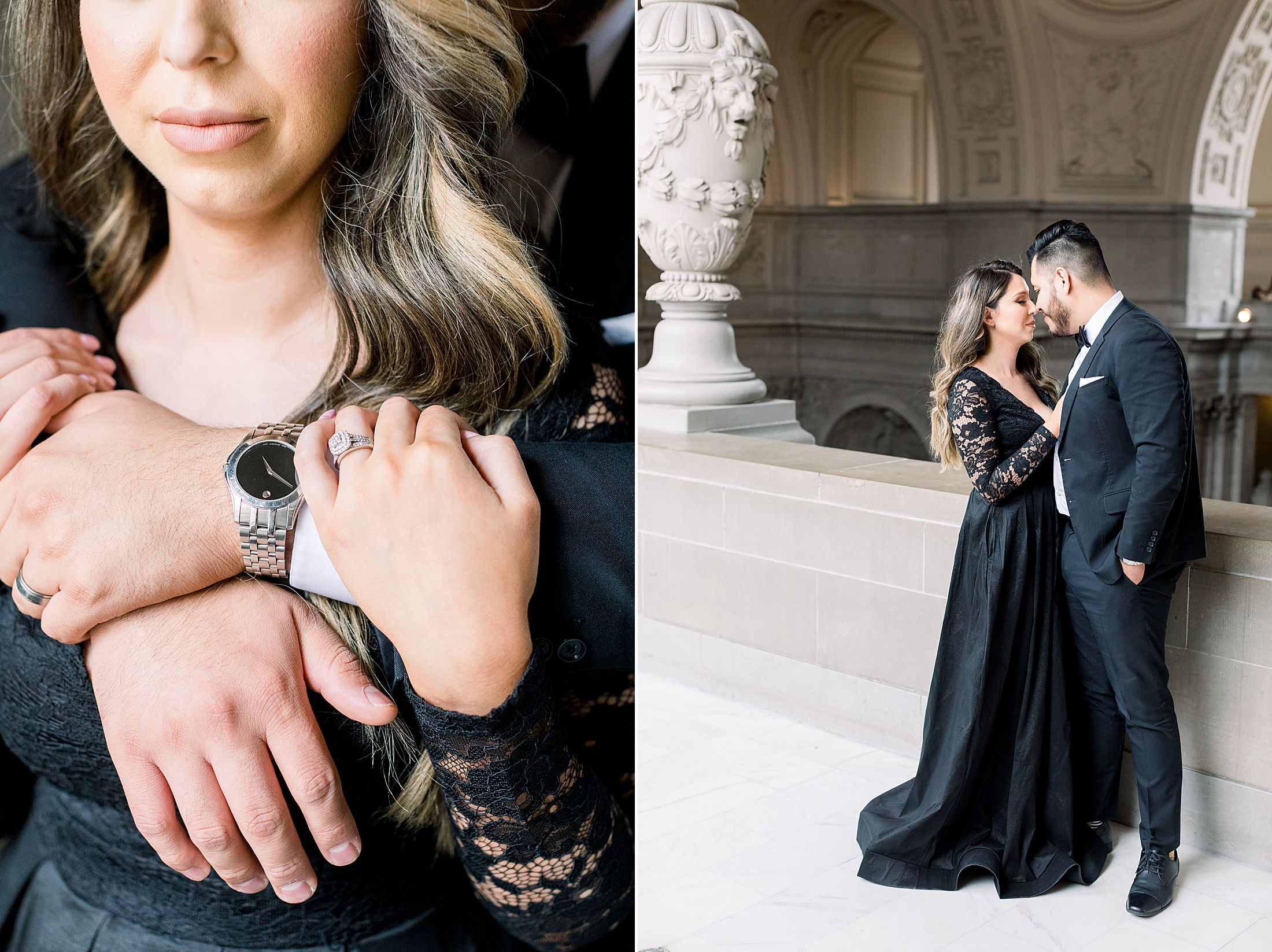 SF City Hall Black Tie Engagement and Palace of Fine Arts Engagement - Ashley Baumgartner - Esmeralda and Jesus - SF Wedding Photographer_0010.jpg