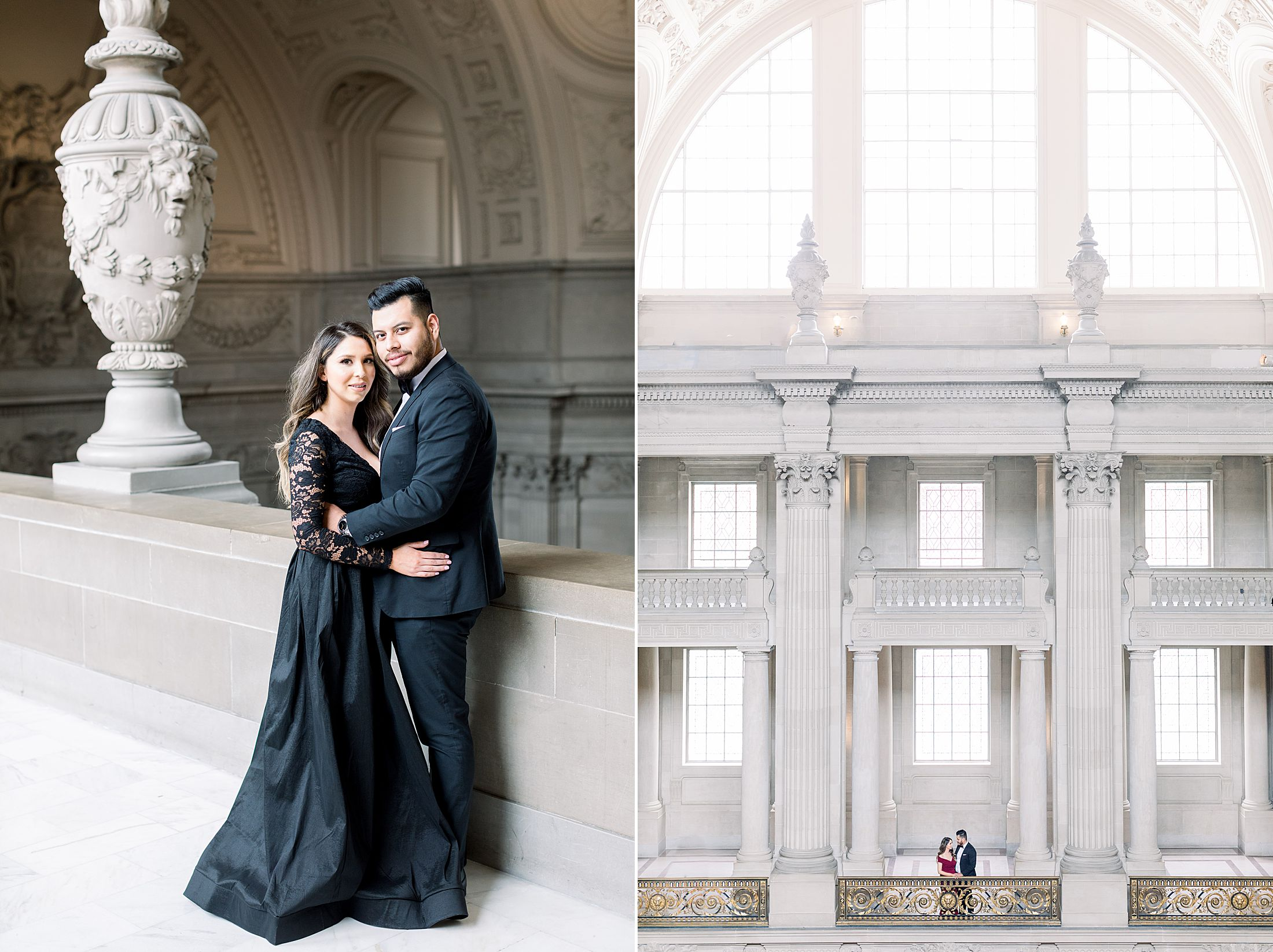SF City Hall Black Tie Engagement and Palace of Fine Arts Engagement - Ashley Baumgartner - Esmeralda and Jesus - SF Wedding Photographer_0012.jpg