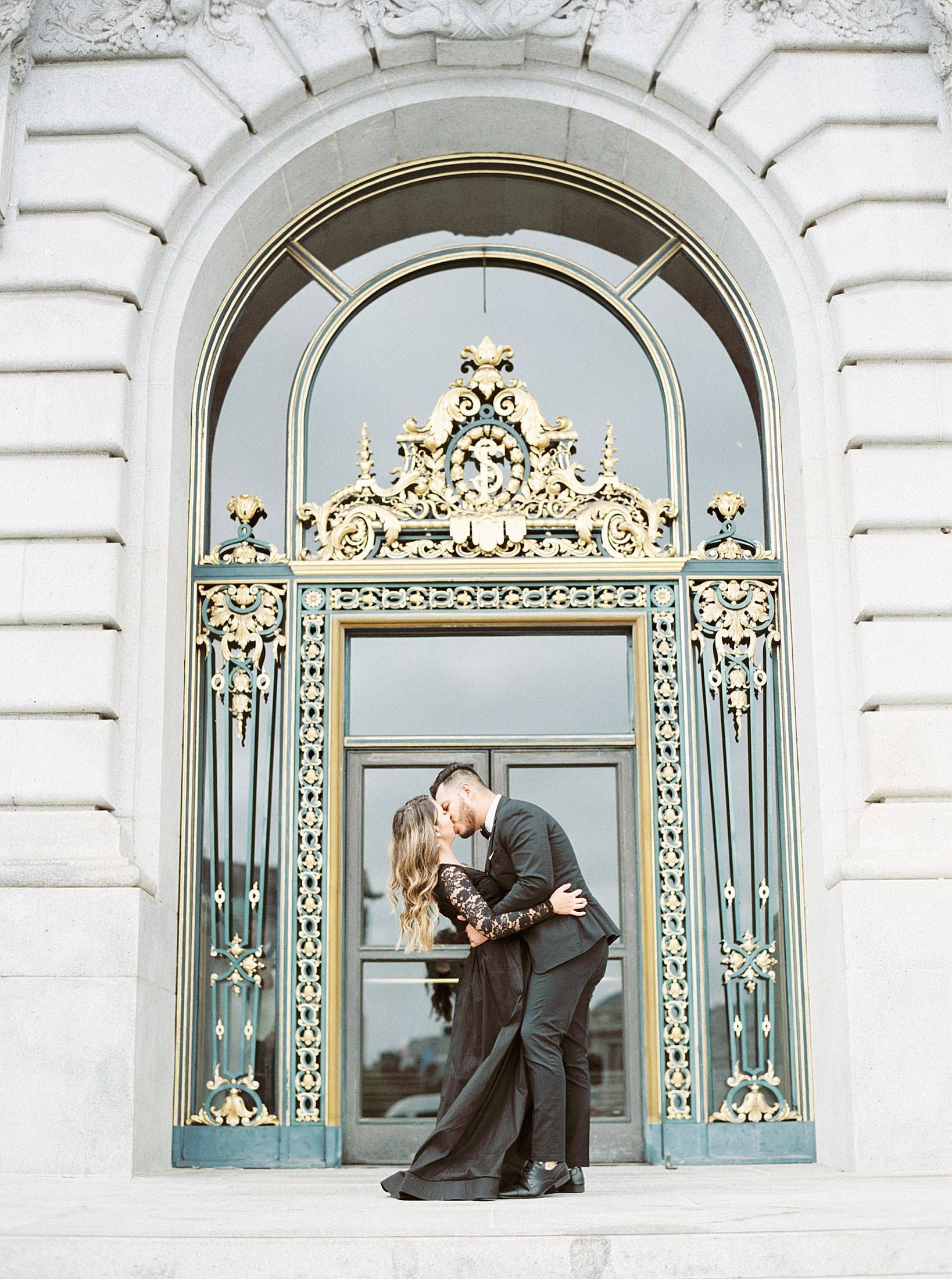 SF City Hall Black Tie Engagement and Palace of Fine Arts Engagement - Ashley Baumgartner - Esmeralda and Jesus - SF Wedding Photographer_0013.jpg