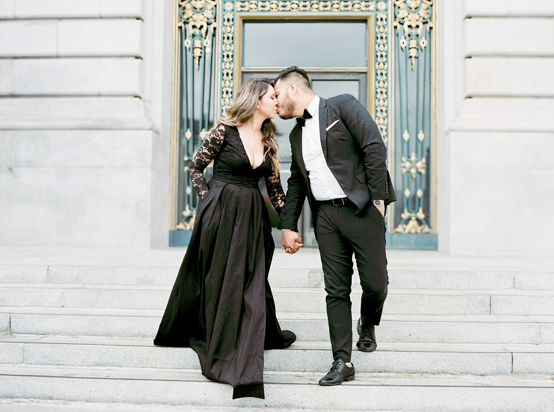 SF City Hall Black Tie Engagement and Palace of Fine Arts Engagement - Ashley Baumgartner - Esmeralda and Jesus - SF Wedding Photographer_0014.jpg