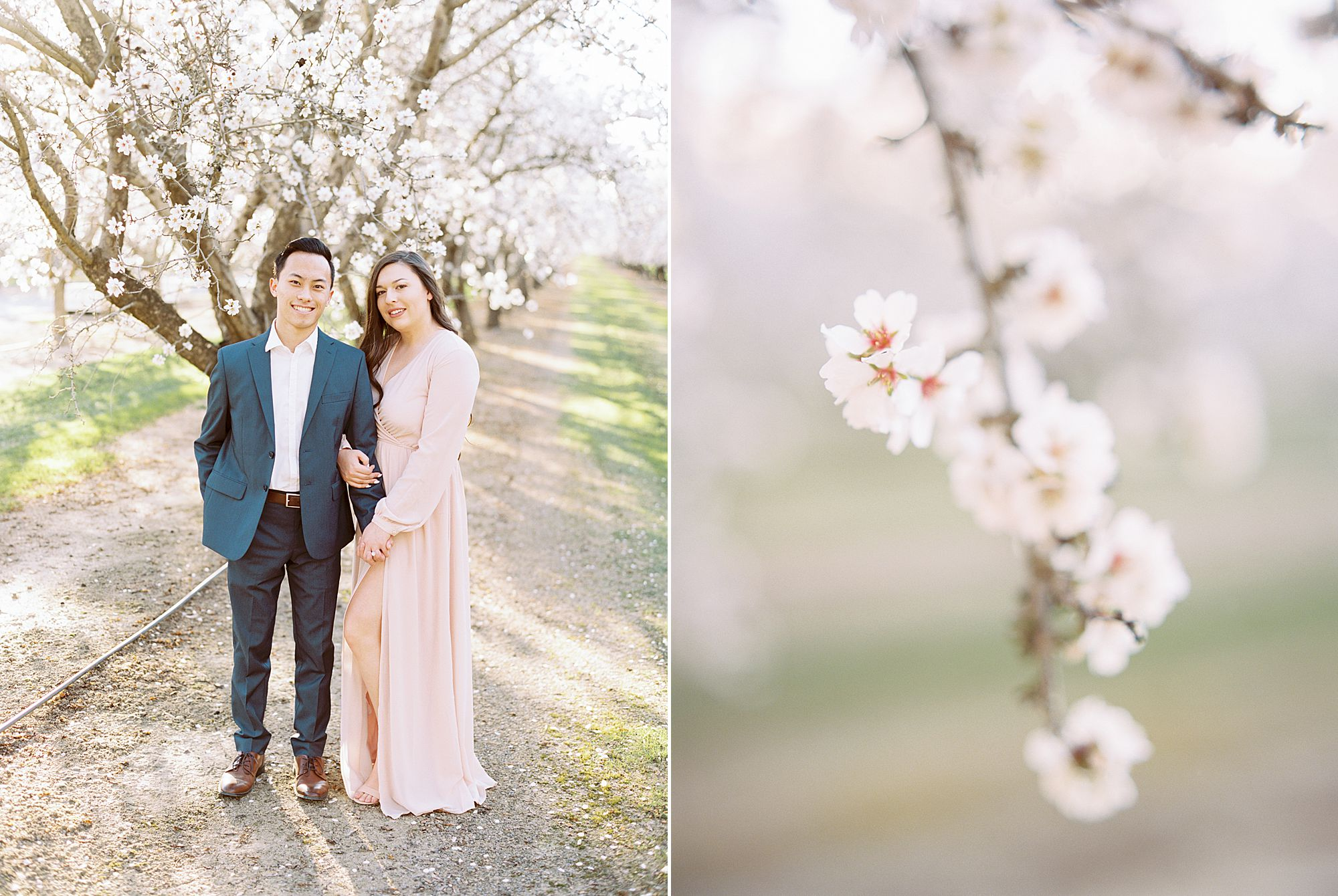Almond Orchard Engagement Session - Caley and Tyler - Lone Oak Wedding - Ashley Baumgartner - Almond Blossom_0001.jpg