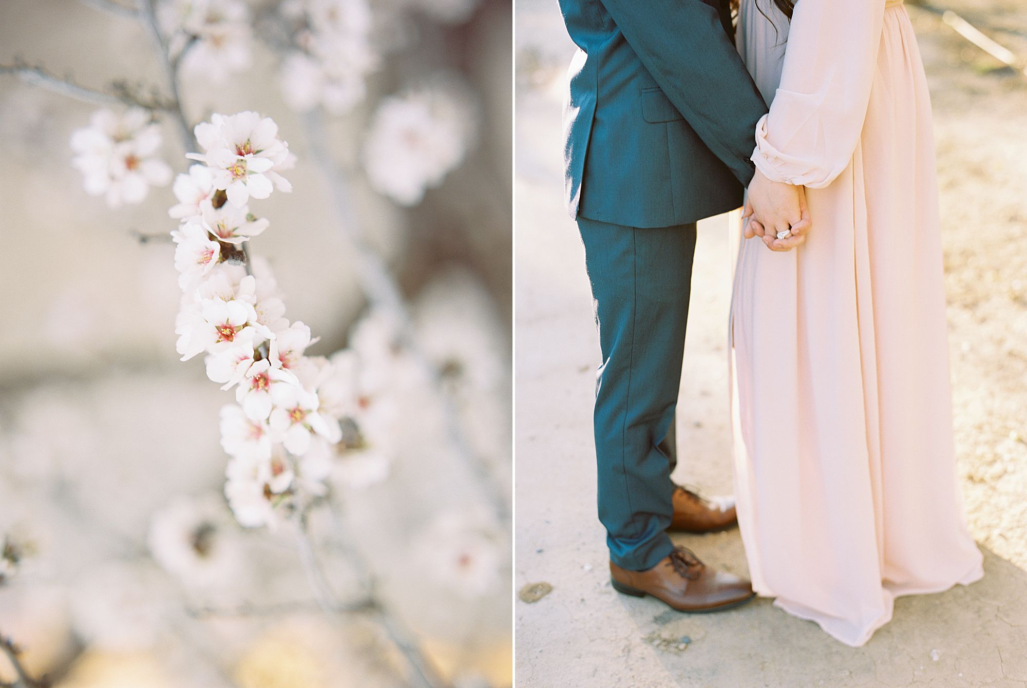 Almond Orchard Engagement Session - Caley and Tyler - Lone Oak Wedding - Ashley Baumgartner - Almond Blossom_0003.jpg