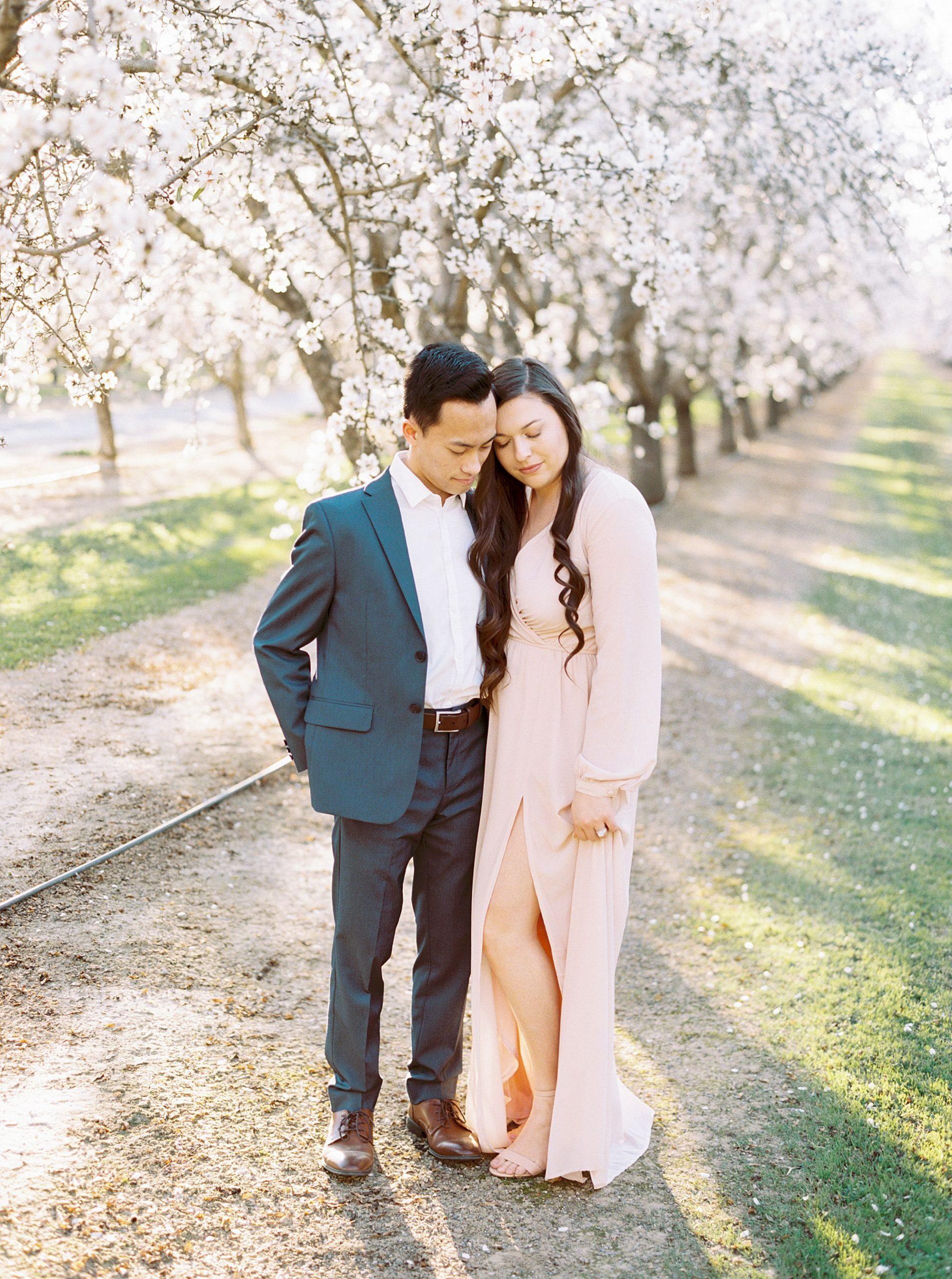 Almond Orchard Engagement Session - Caley and Tyler - Lone Oak Wedding - Ashley Baumgartner - Almond Blossom_0004.jpg
