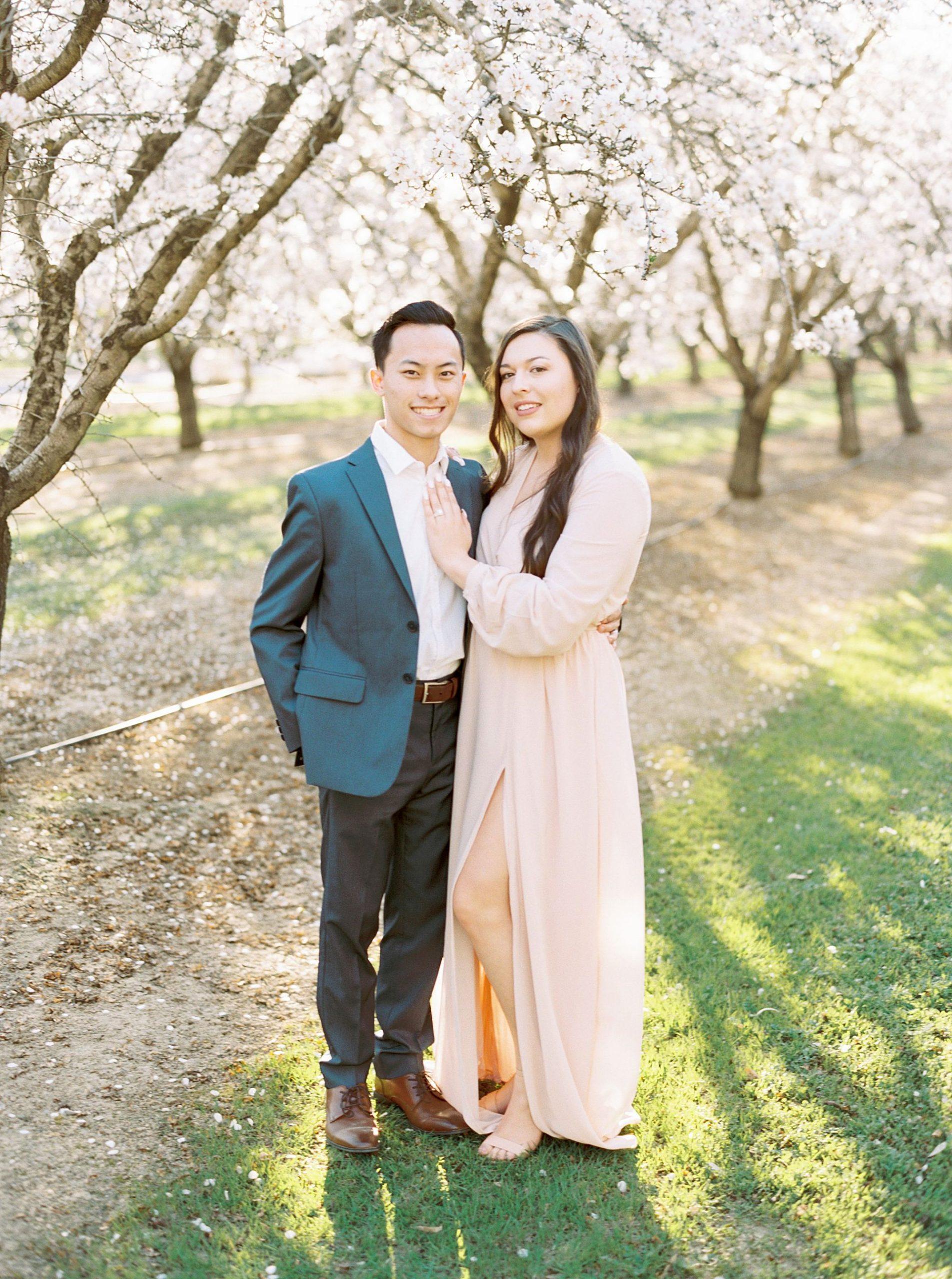 Almond Orchard Engagement Session - Caley and Tyler - Lone Oak Wedding - Ashley Baumgartner - Almond Blossom_0006.jpg