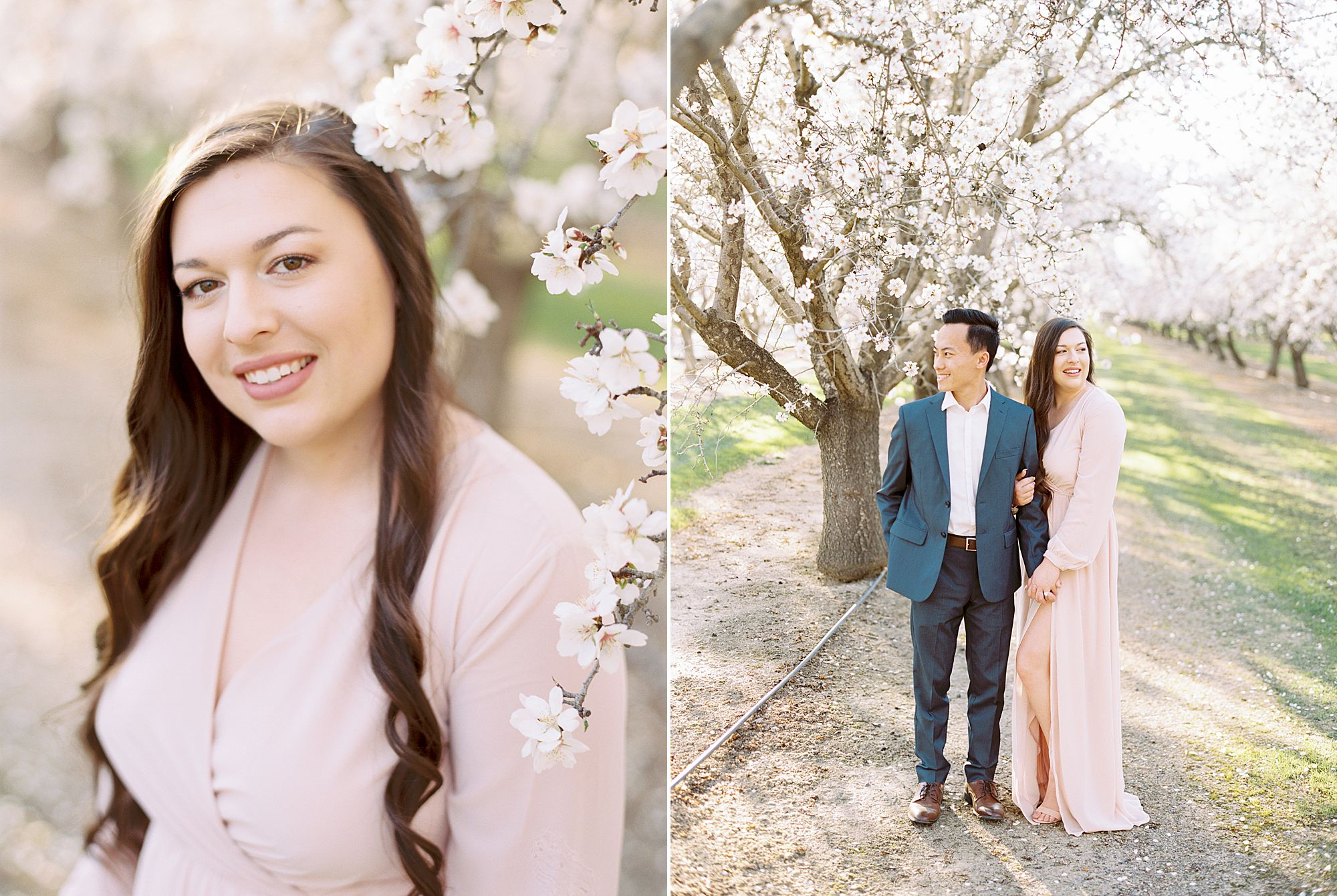 Almond Orchard Engagement Session - Caley and Tyler - Lone Oak Wedding - Ashley Baumgartner - Almond Blossom_0007.jpg