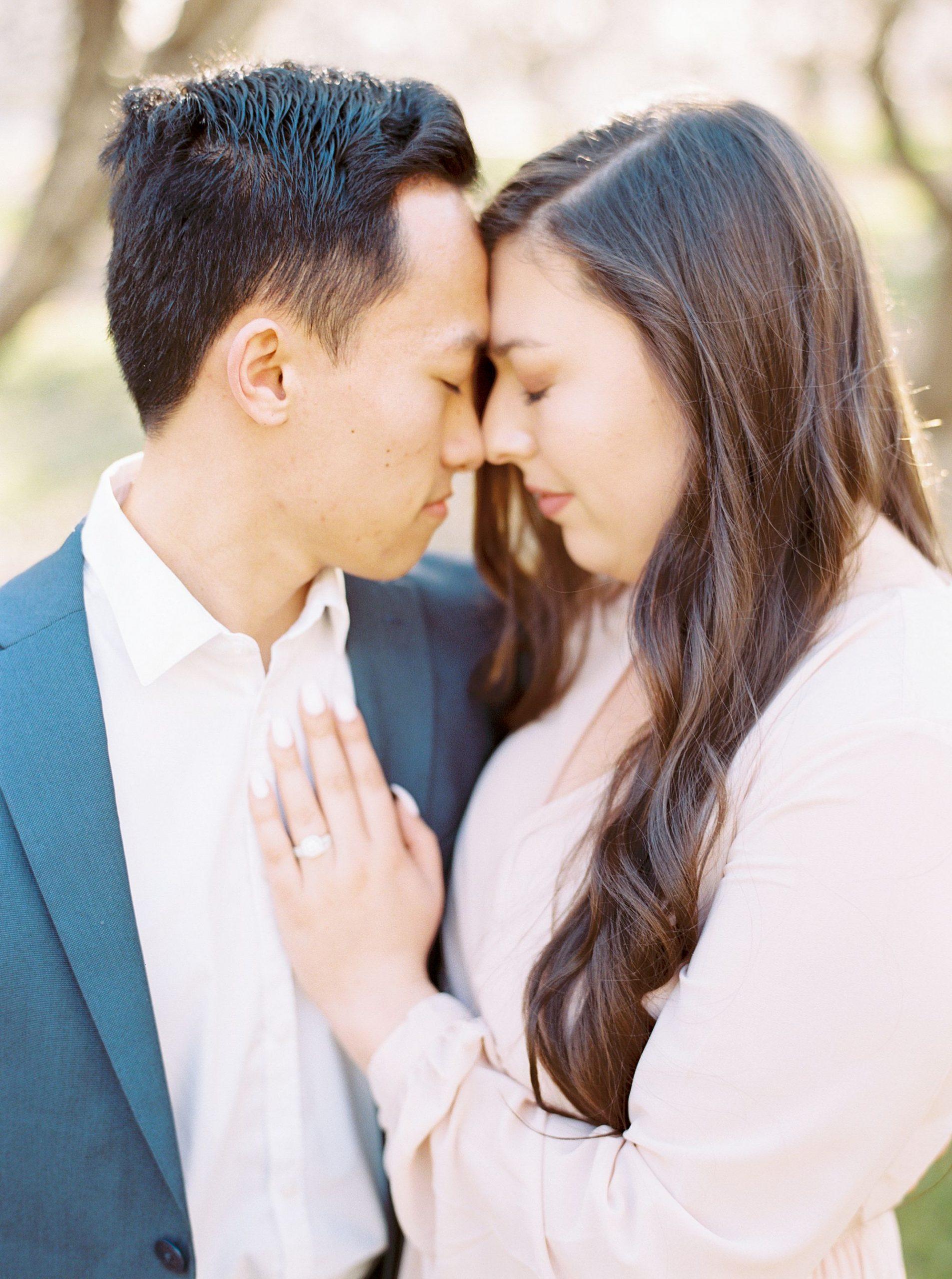Almond Orchard Engagement Session - Caley and Tyler - Lone Oak Wedding - Ashley Baumgartner - Almond Blossom_0008.jpg