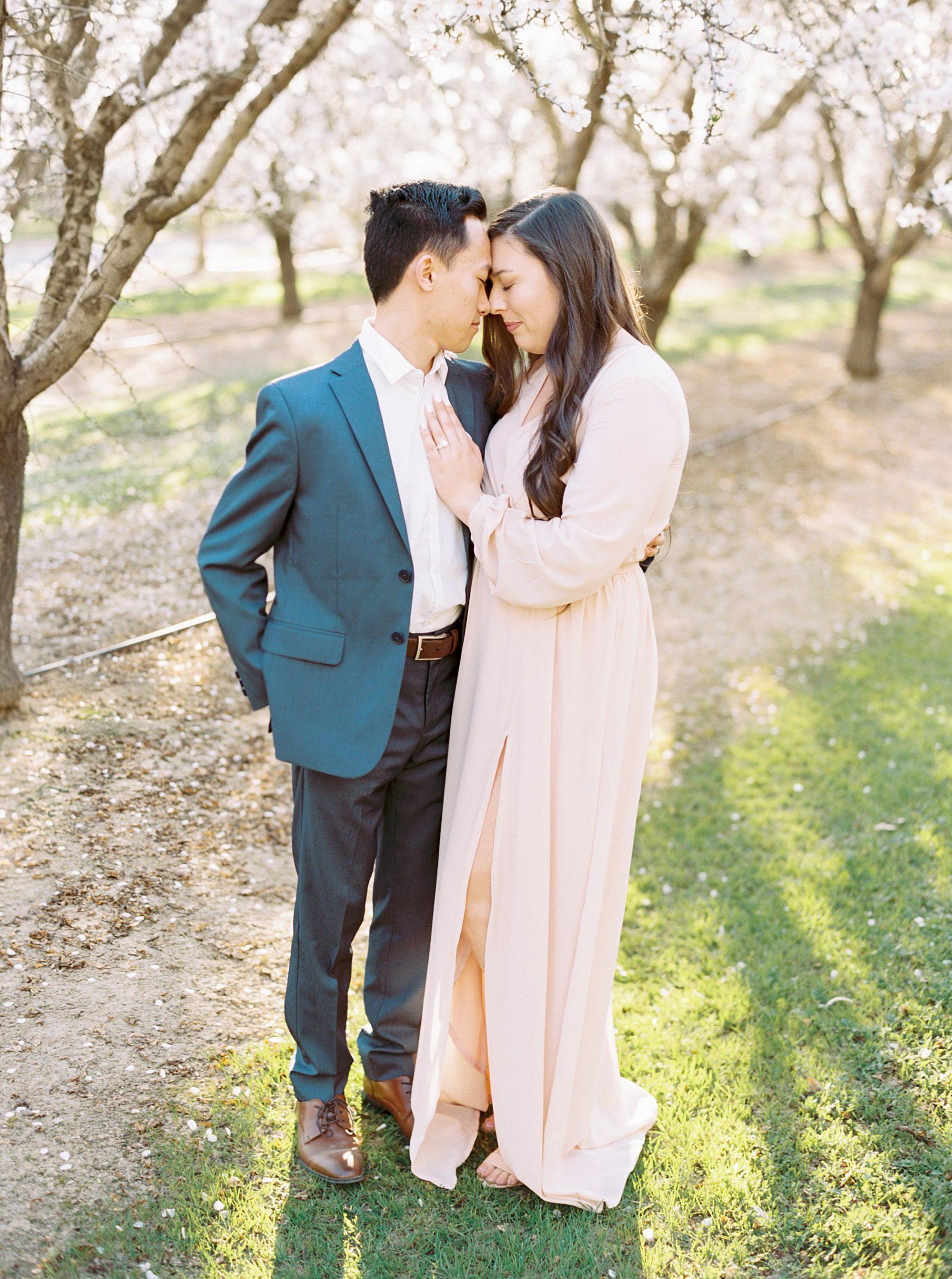 Almond Orchard Engagement Session - Caley and Tyler - Lone Oak Wedding - Ashley Baumgartner - Almond Blossom_0010.jpg