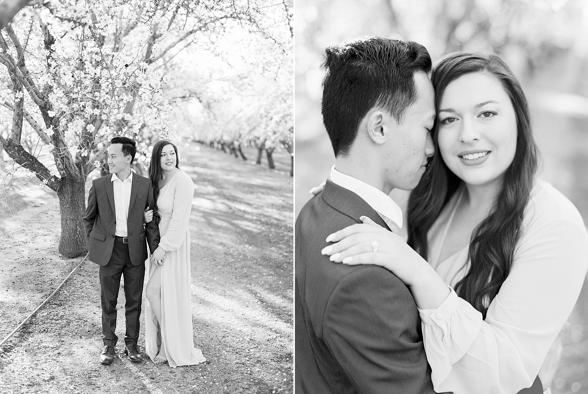 Almond Orchard Engagement Session - Caley and Tyler - Lone Oak Wedding - Ashley Baumgartner - Almond Blossom_0011.jpg