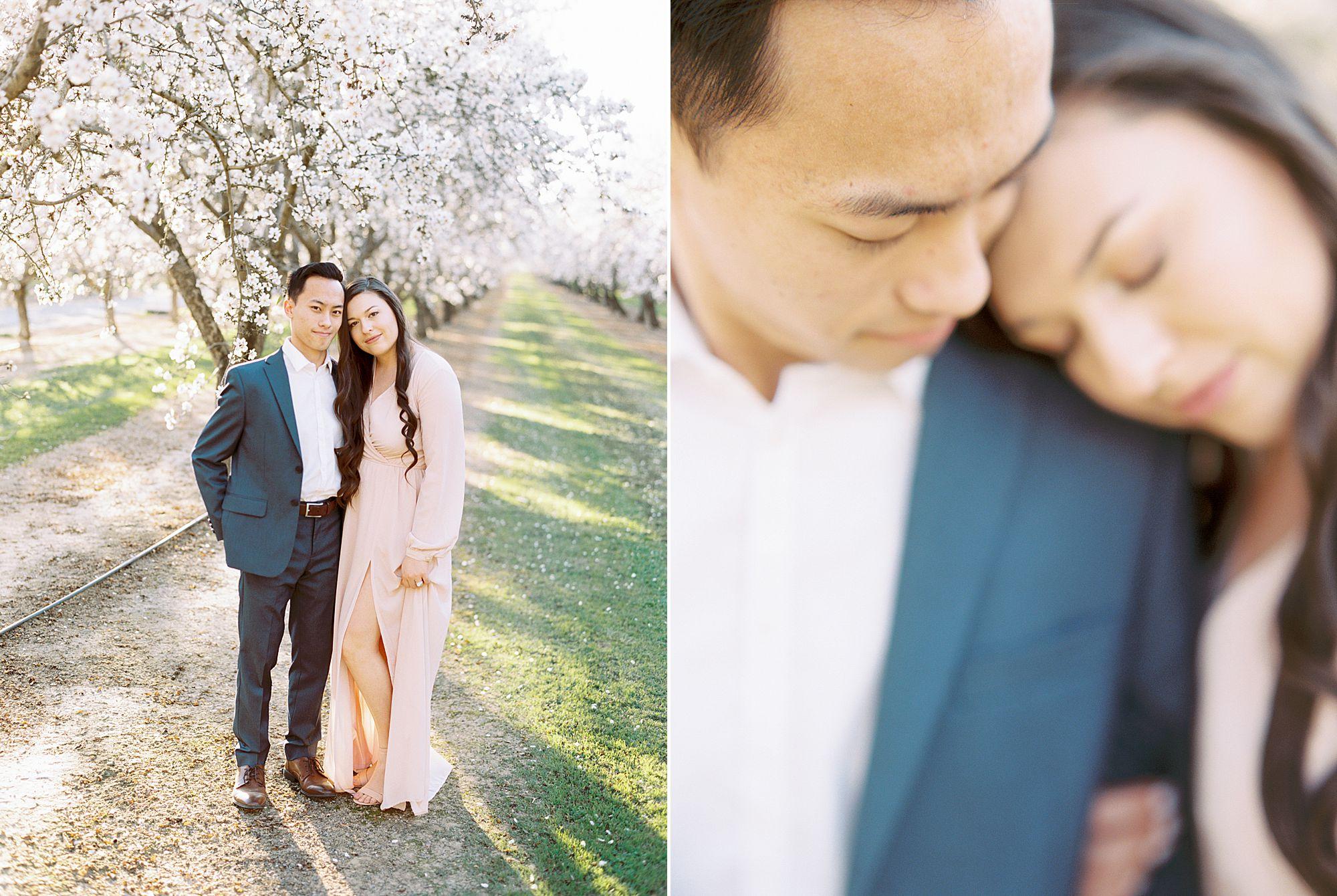 Almond Orchard Engagement Session - Caley and Tyler - Lone Oak Wedding - Ashley Baumgartner - Almond Blossom_0013.jpg