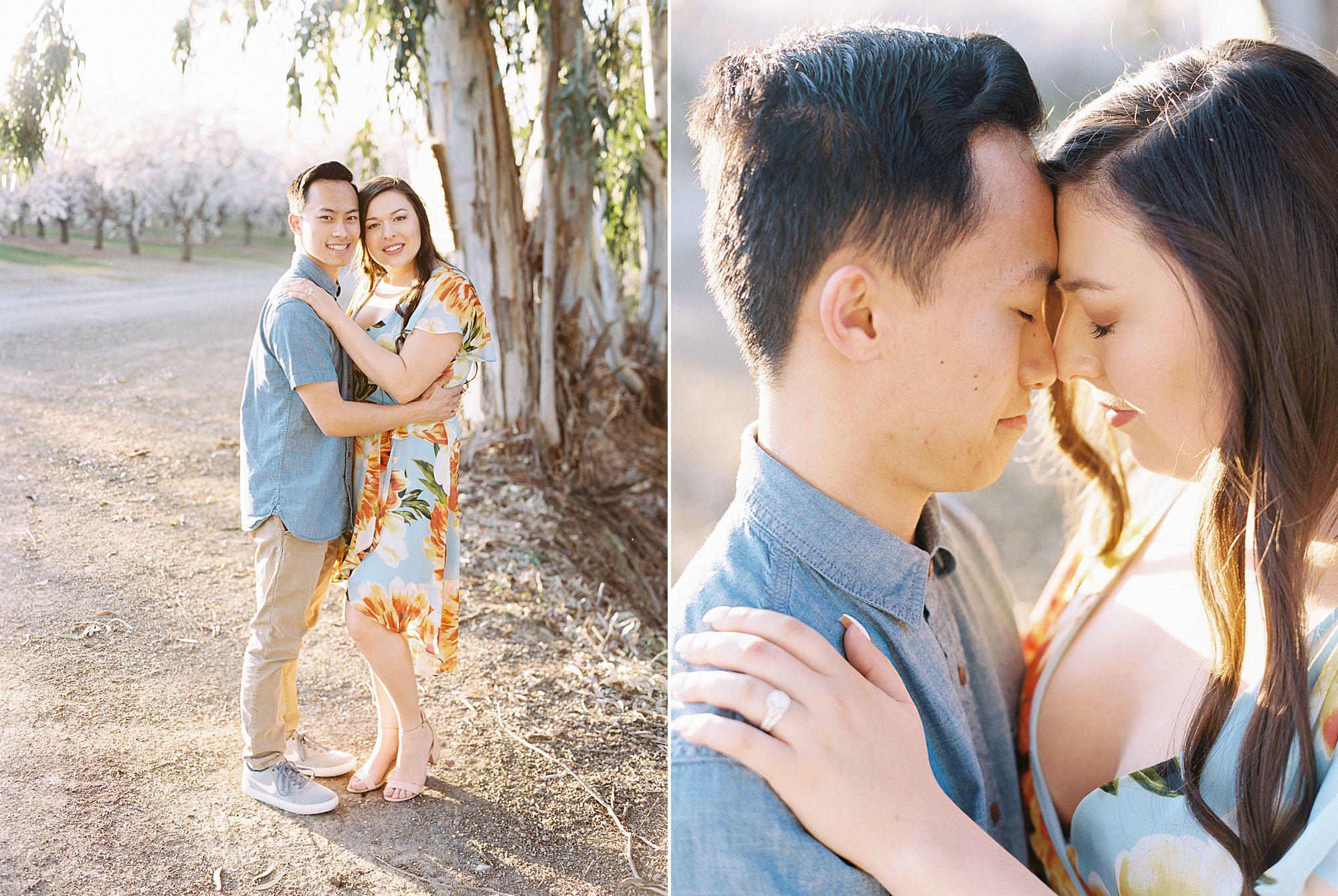 Almond Orchard Engagement Session - Caley and Tyler - Lone Oak Wedding - Ashley Baumgartner - Almond Blossom_0017.jpg